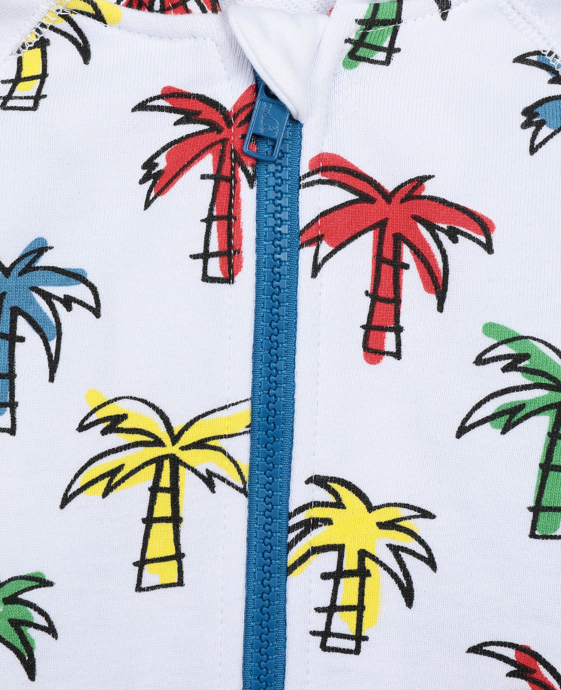 Doodly Palms Cotton  Hoodie-Multicolour-large image number 2