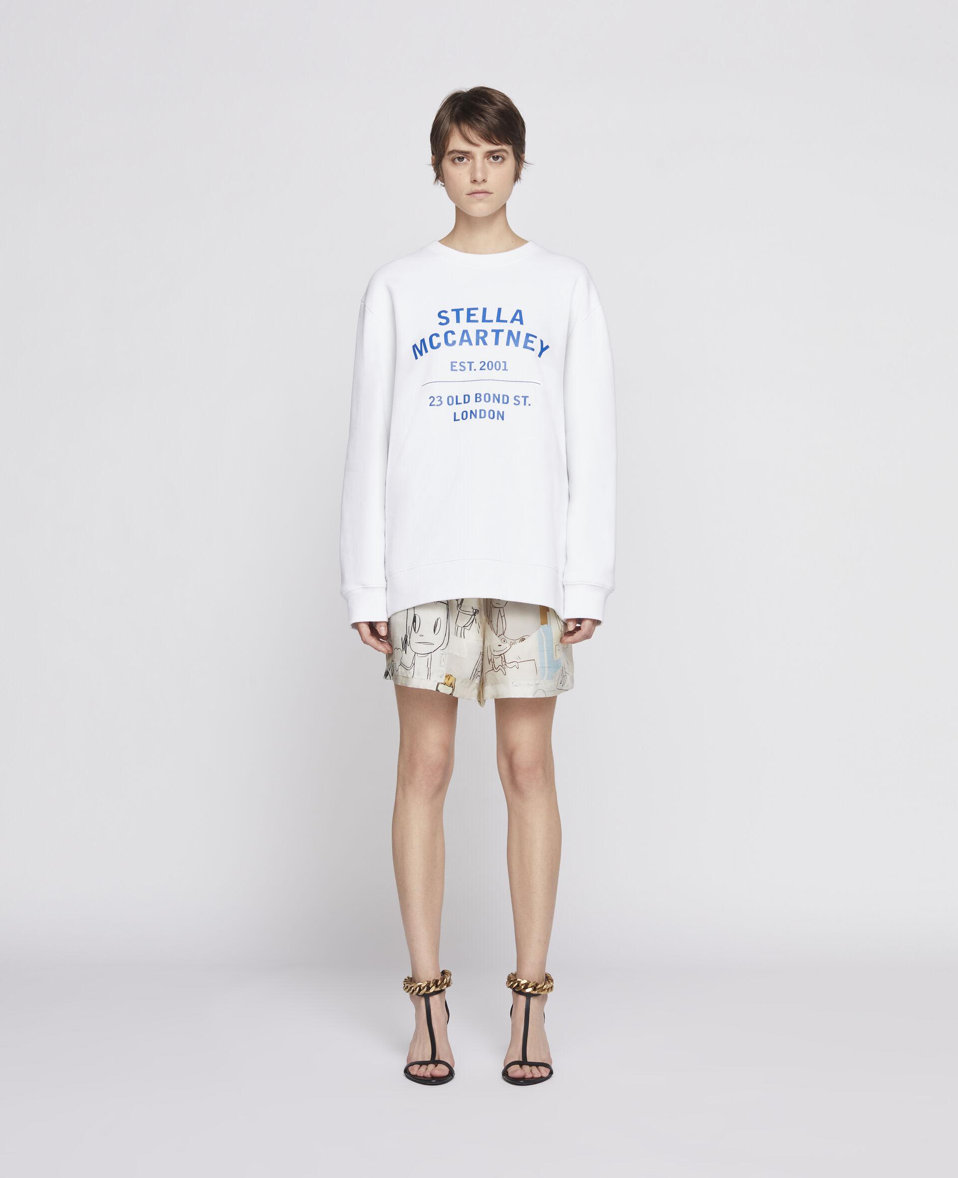 Sweat-shirt 23 OBS en coton biologique-Noir-large image number 1
