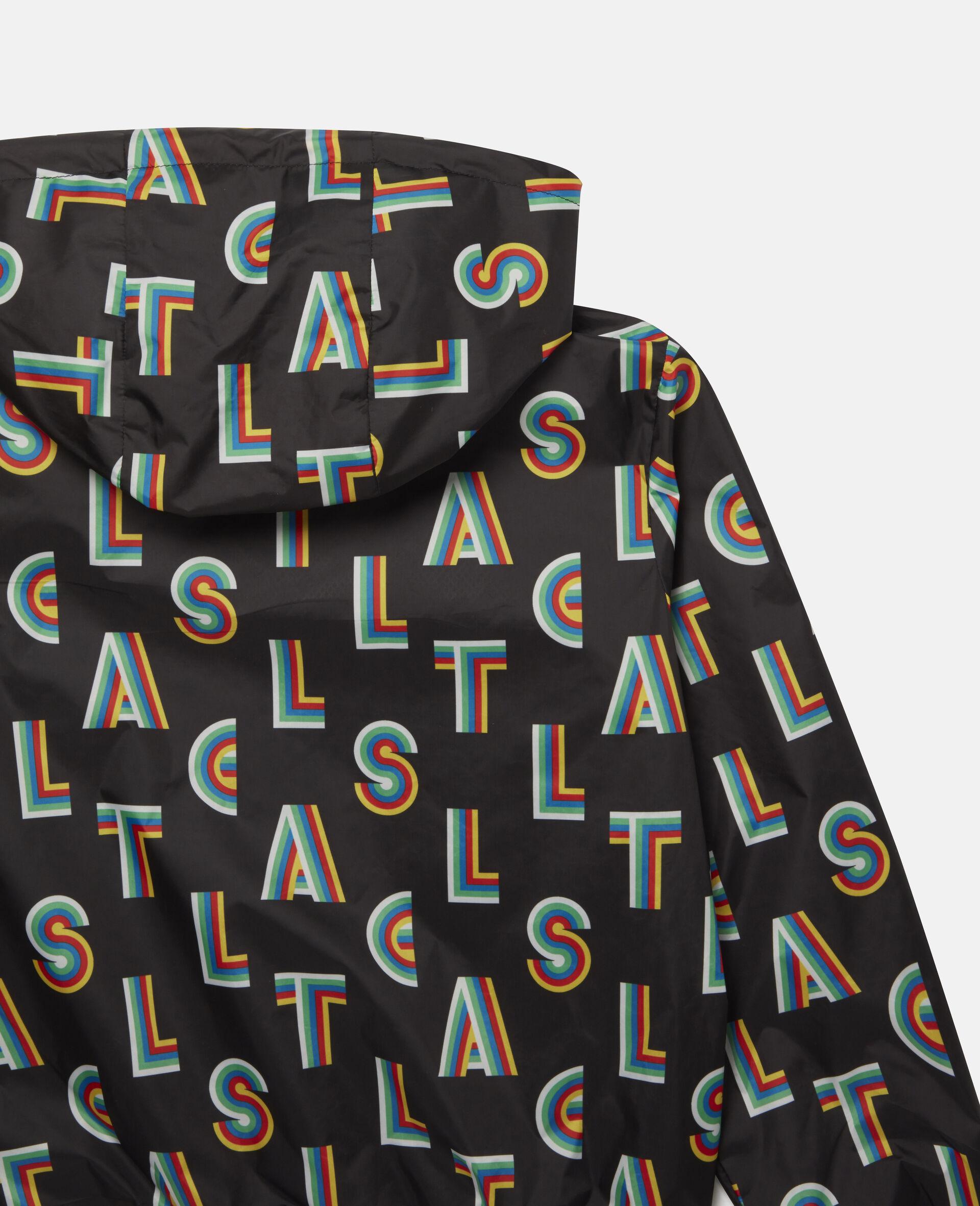Striped Stella Hooded Jacket -Black-large image number 2