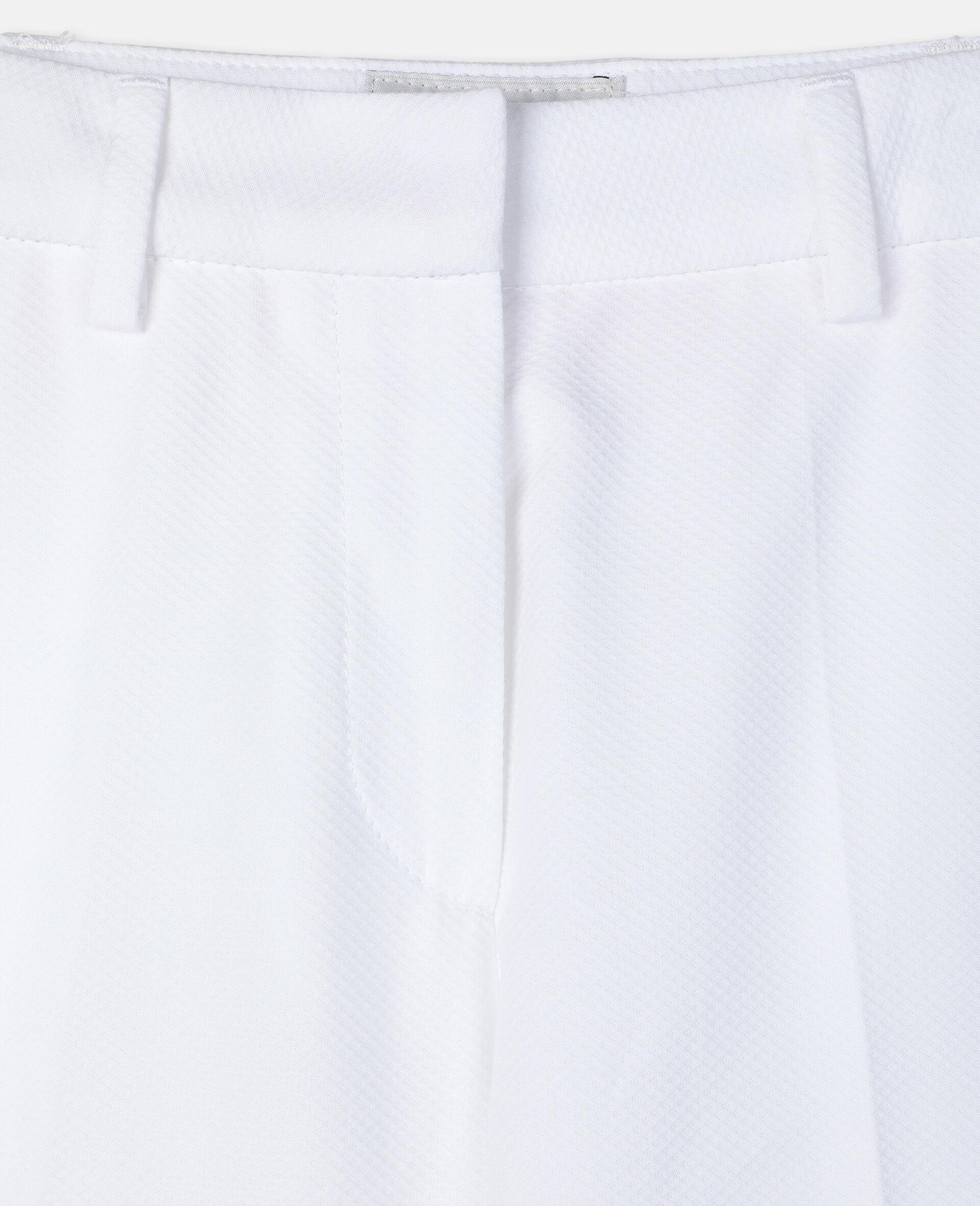 Cotton-Pique Suit Pants-White-large image number 2