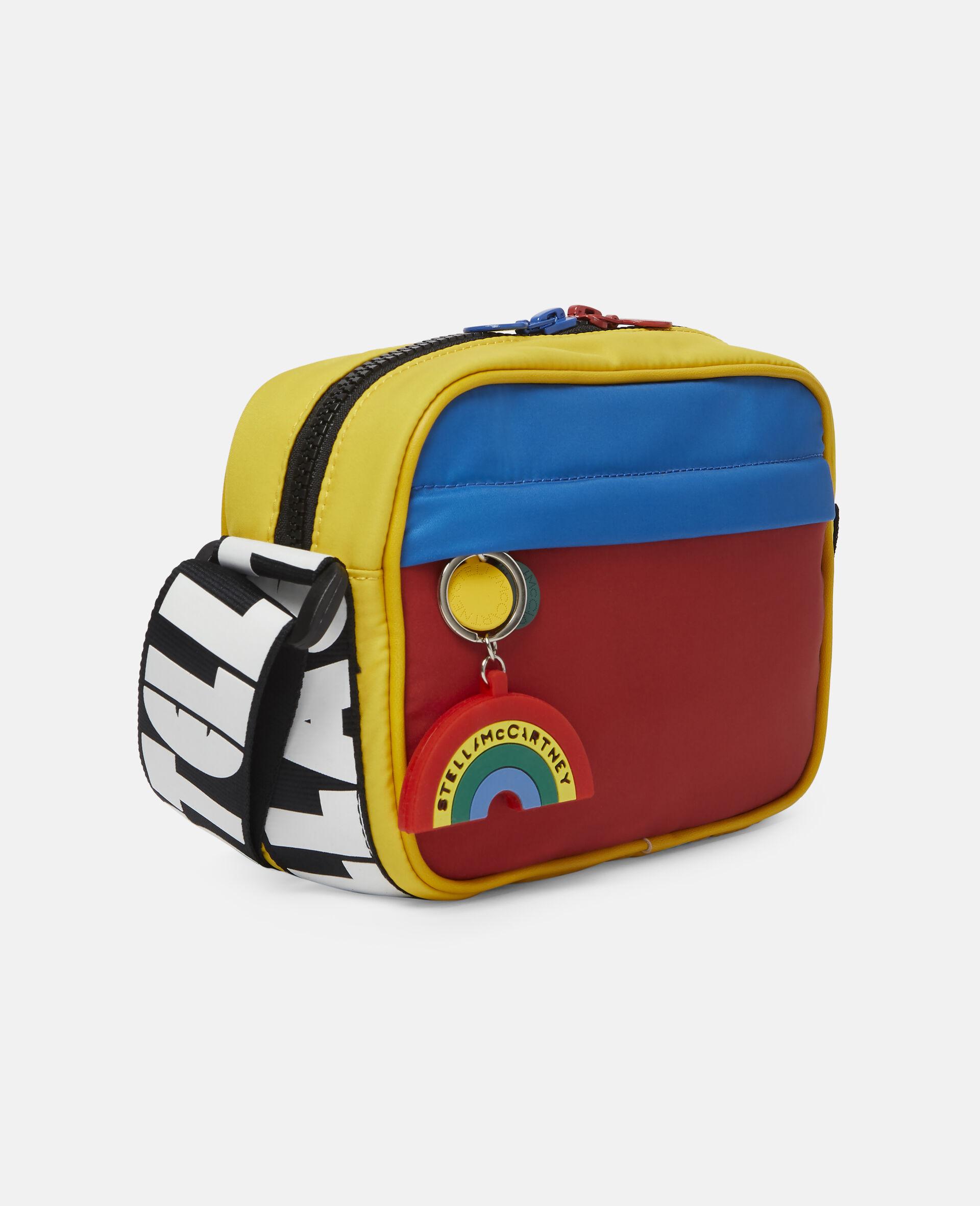 Colourblock Logo Shoulder Bag -Multicolour-large image number 1