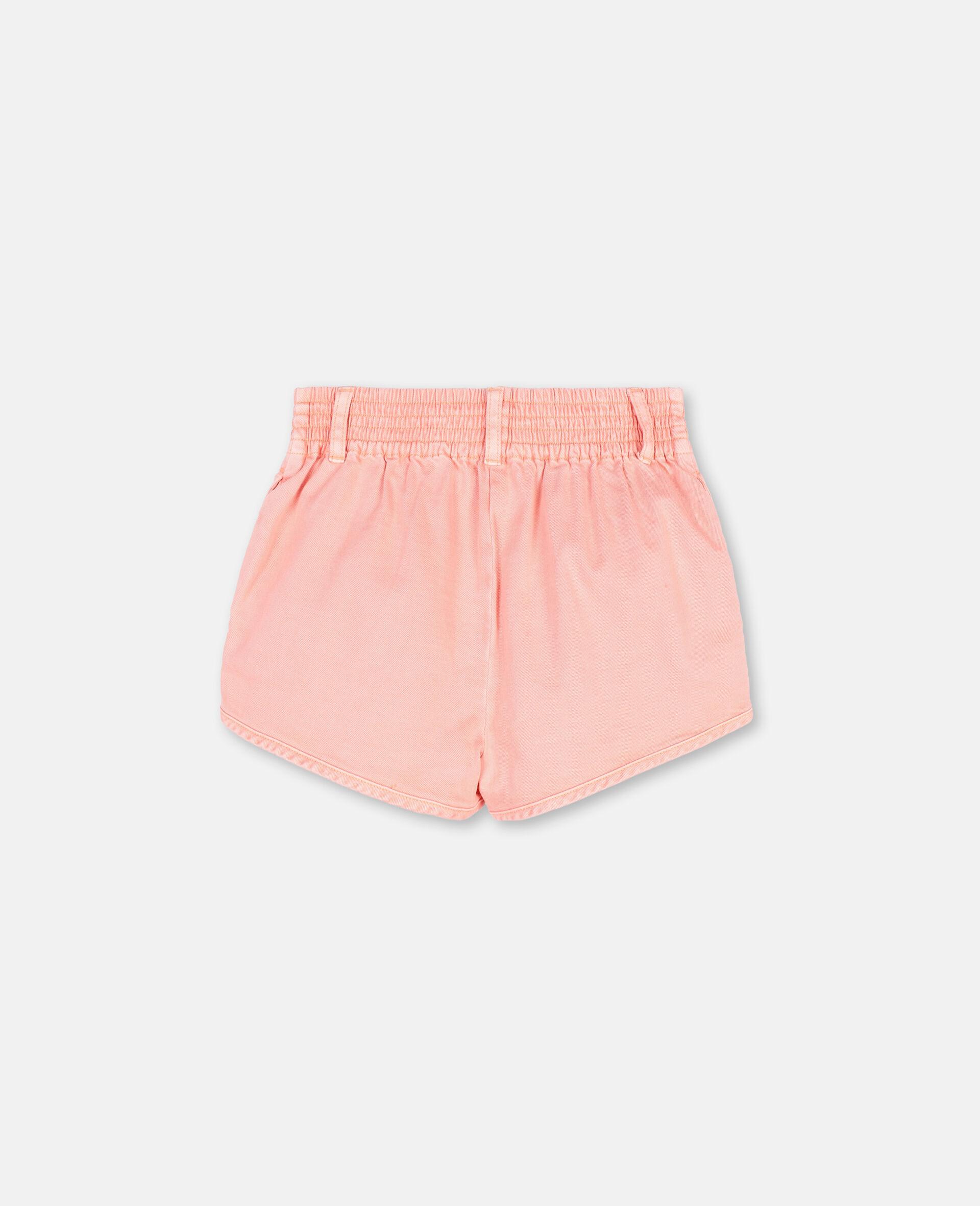 Denim Coral Shorts -Pink-large image number 3