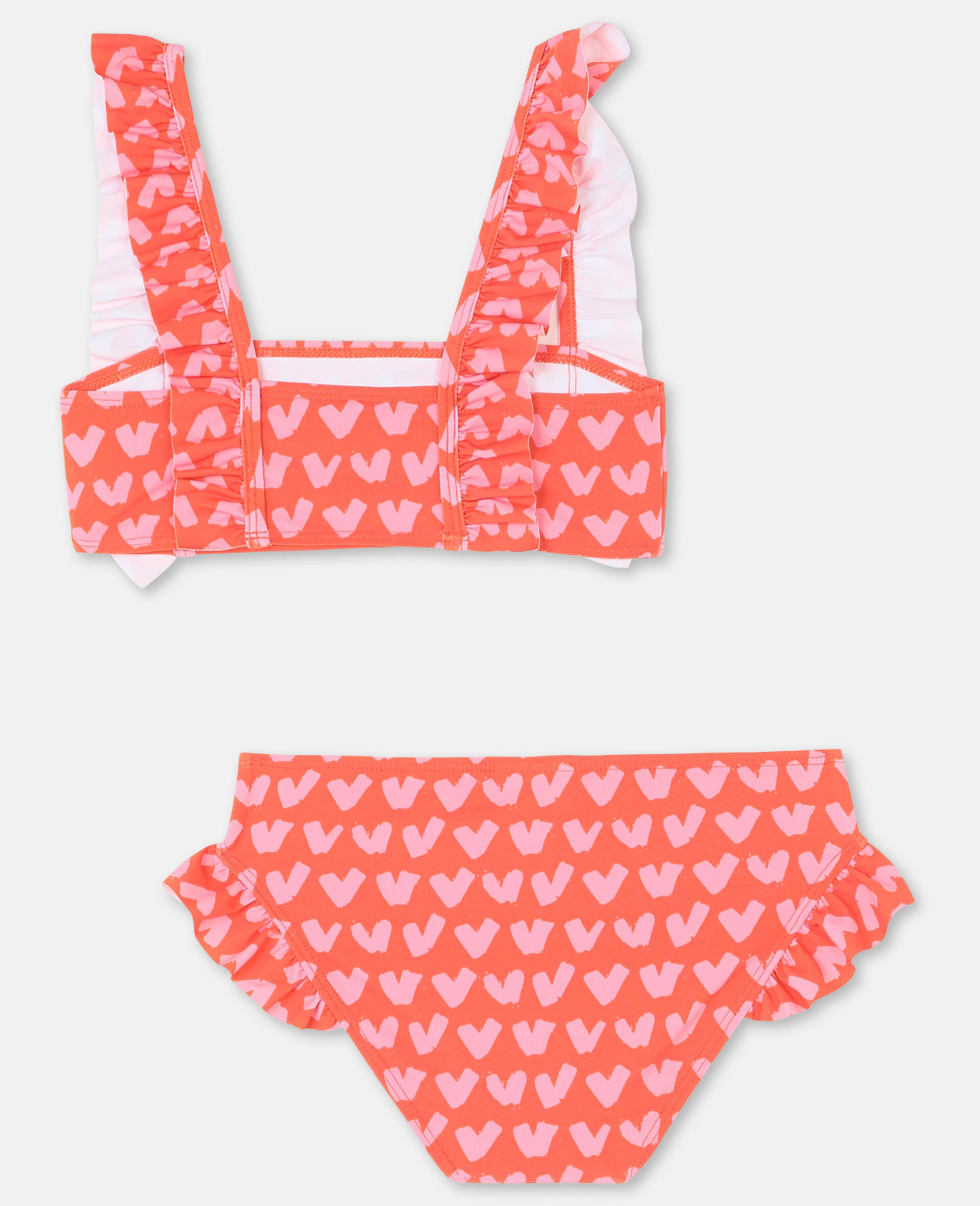 Maillot de bain rouge avec motif cœurs -Rouge-large image number 4
