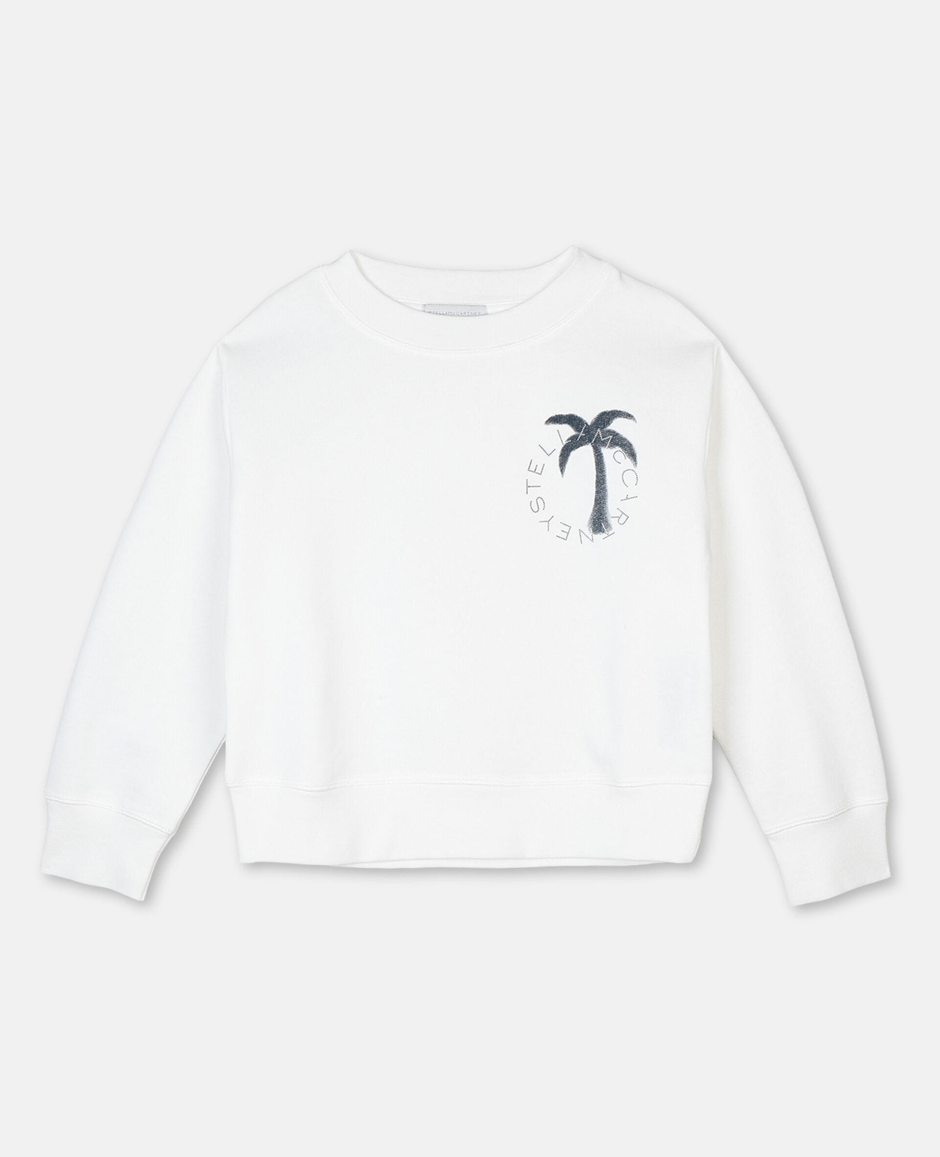 Felpa in Cotone con Logo Palma -Bianco-large image number 0