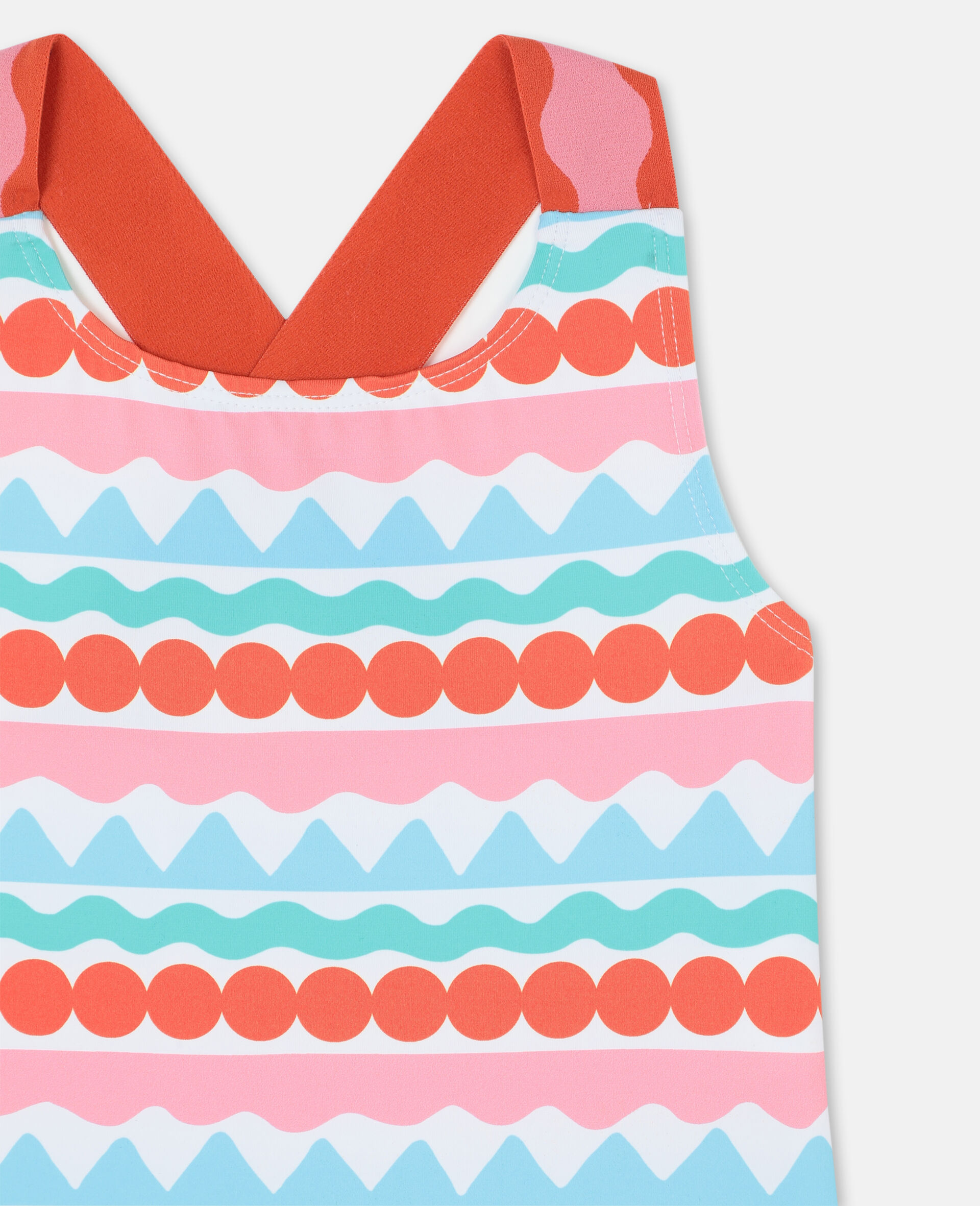 Graphic Stripes Swimsuit-Multicolour-large image number 1