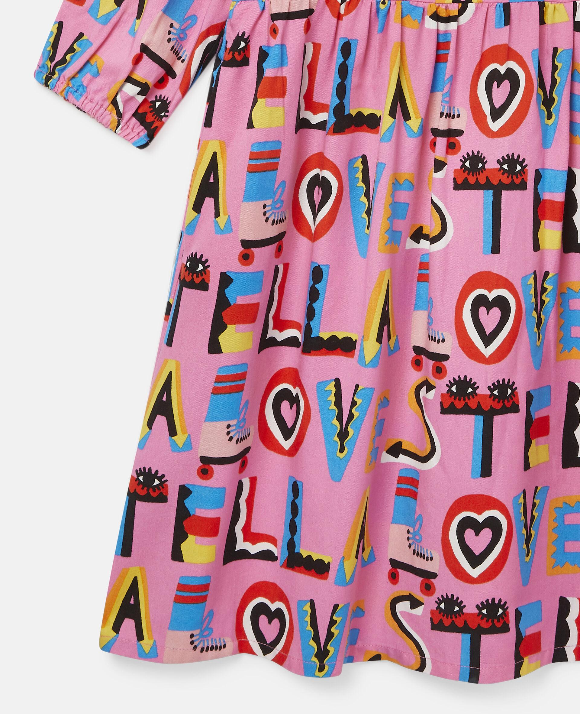 Stella Loves Twill Dress-Pink-large image number 1