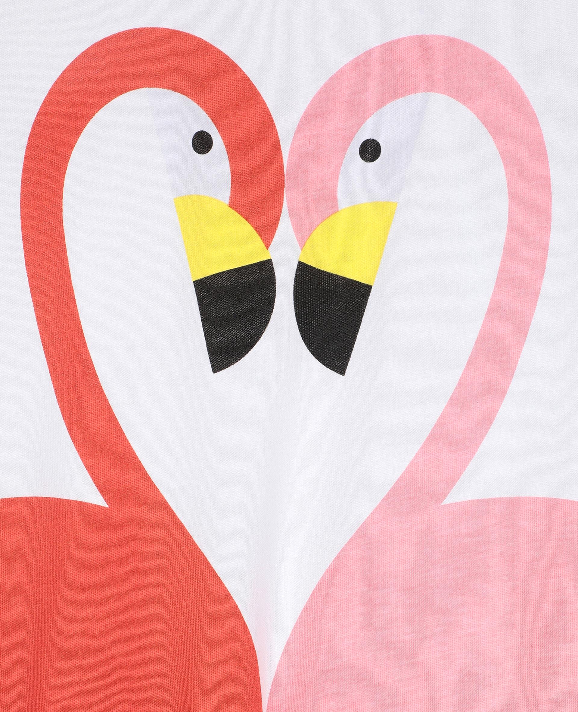 Flamingo Cotton Jumpsuit-White-large image number 1