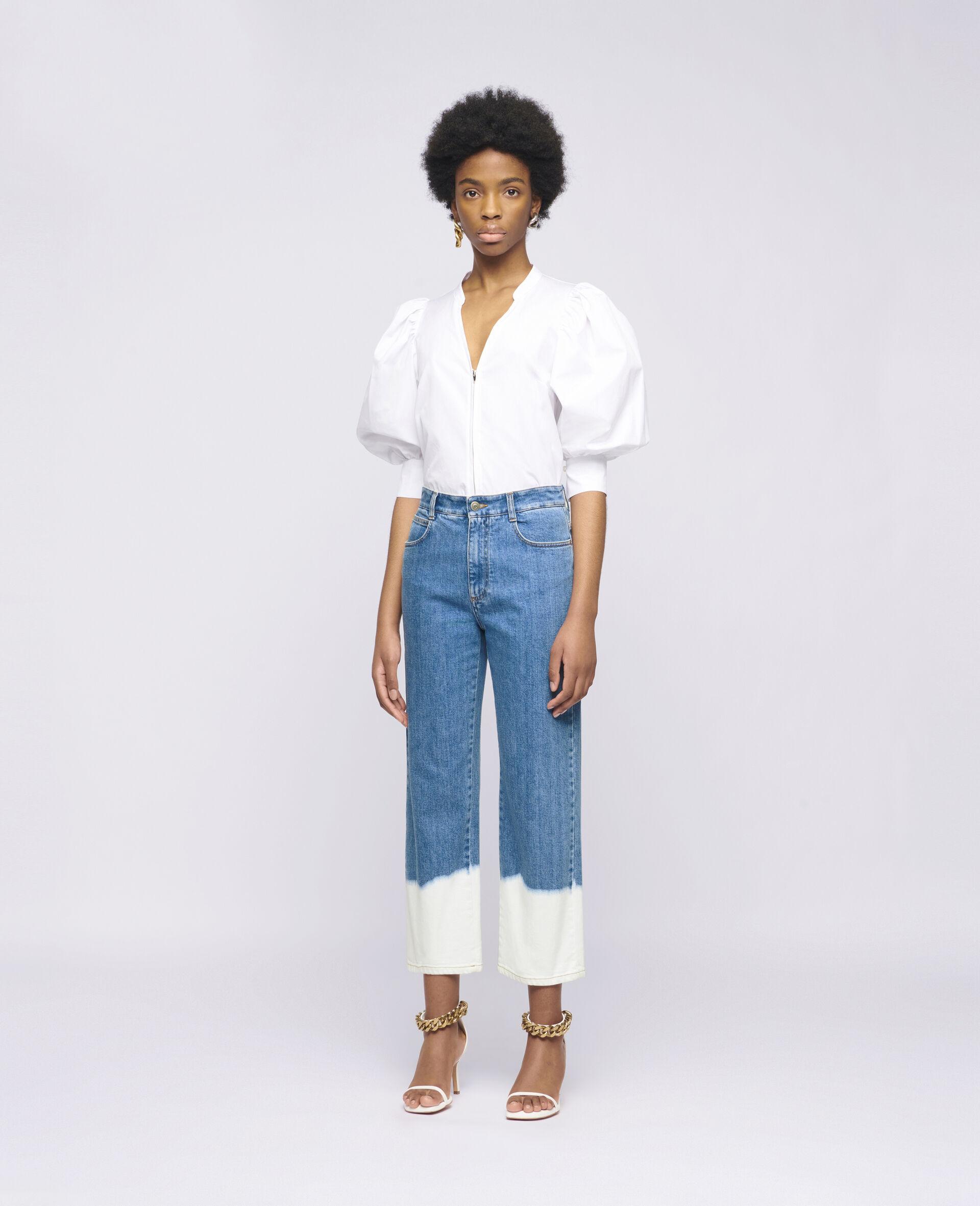 Rose Cotton Shirt-White-large image number 1
