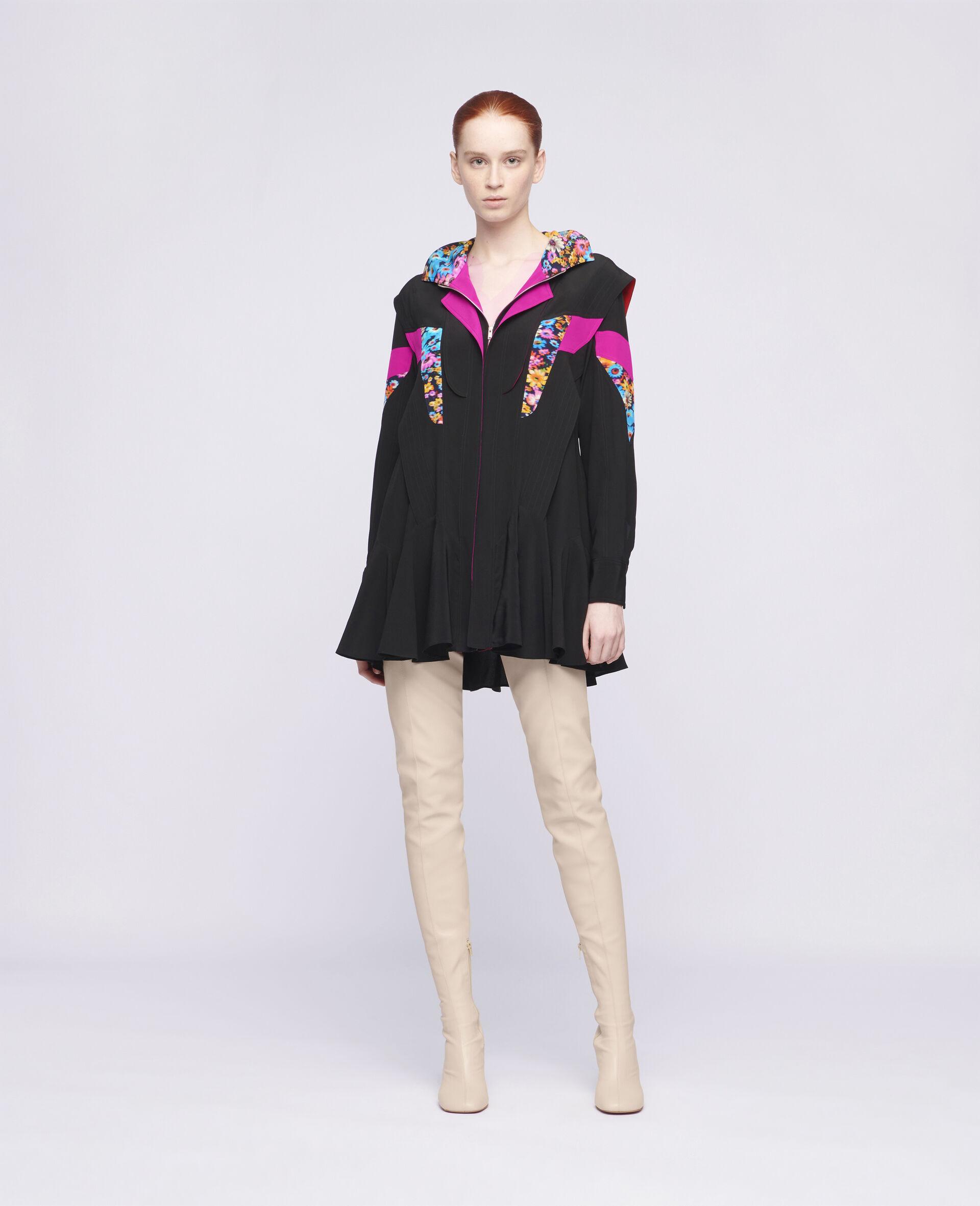 Monica Silk Dress-Multicolour-large image number 1