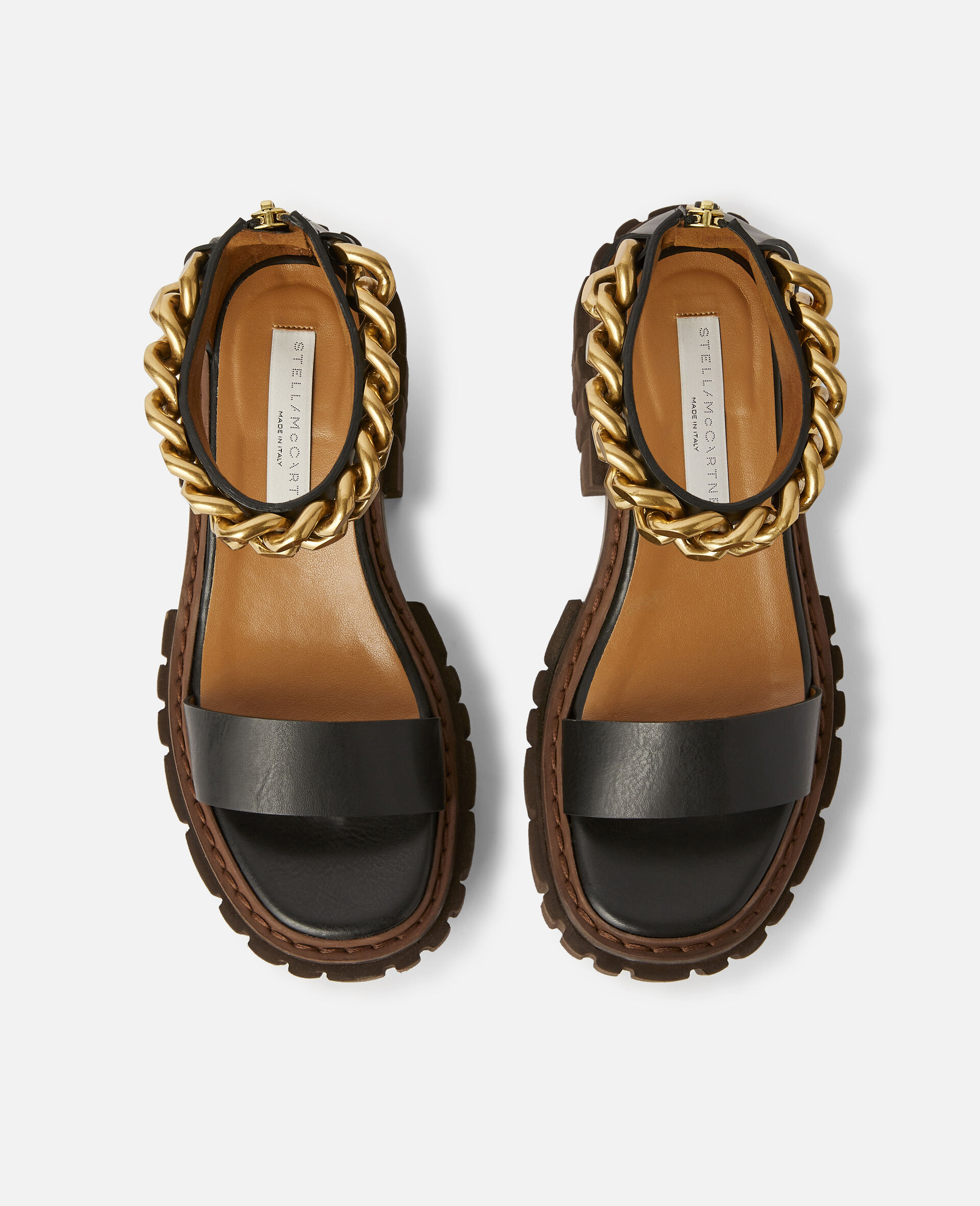 Emilie Chunky Chain Sandals-Black-large image number 3