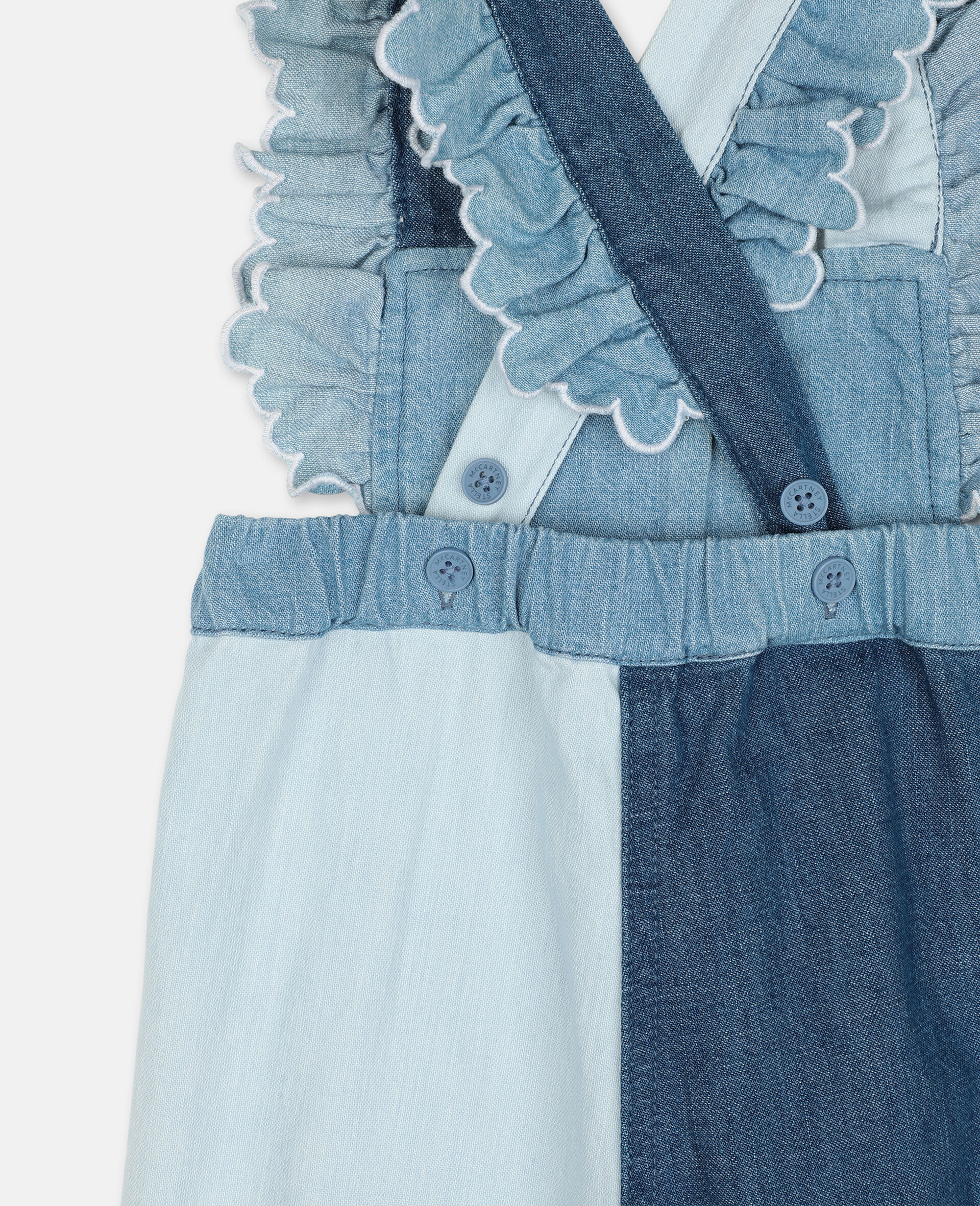 Butterfly Light Denim All-In-One-Blue-large image number 2