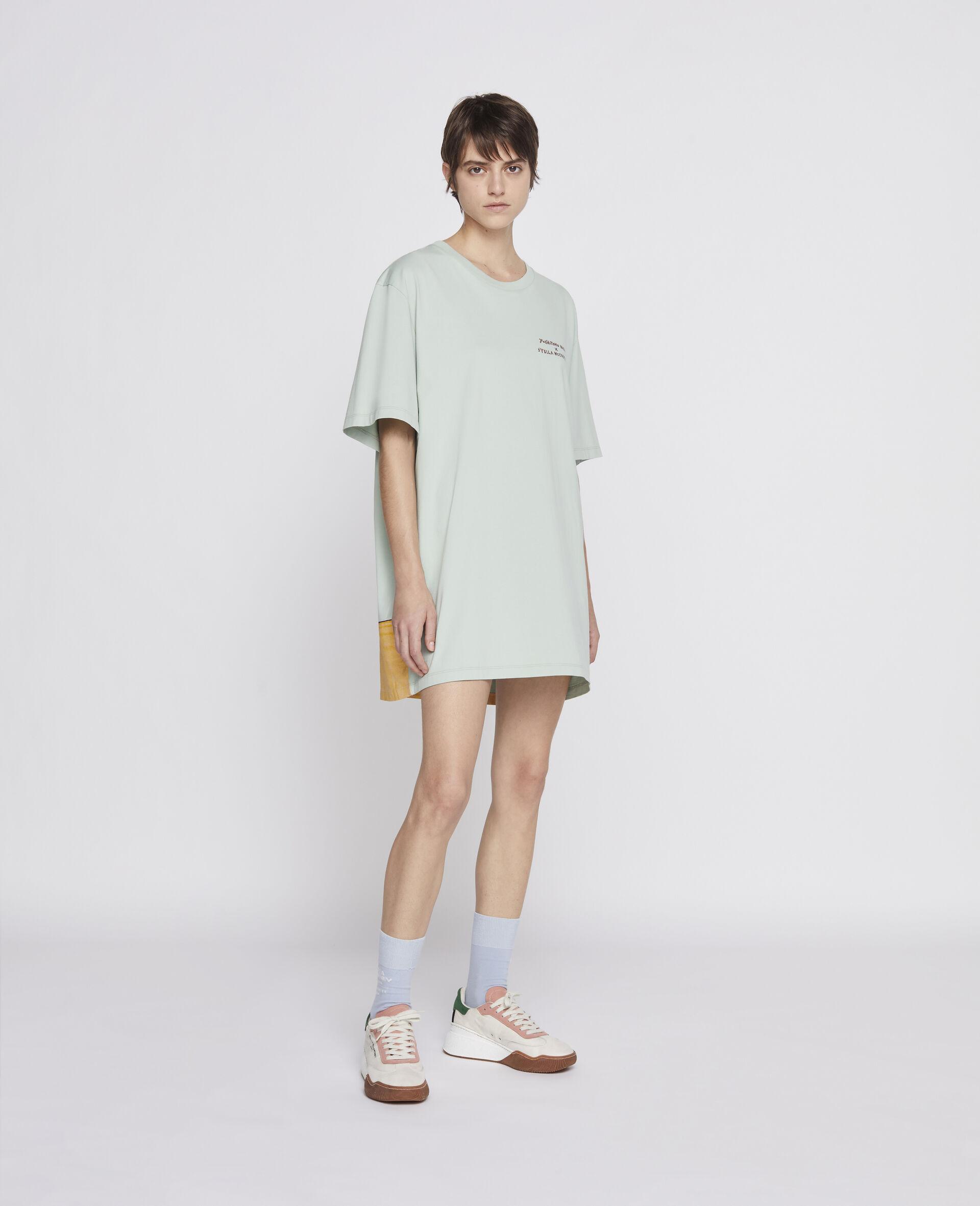T-Shirt in Cotone Organico Nara -Verde-large image number 3