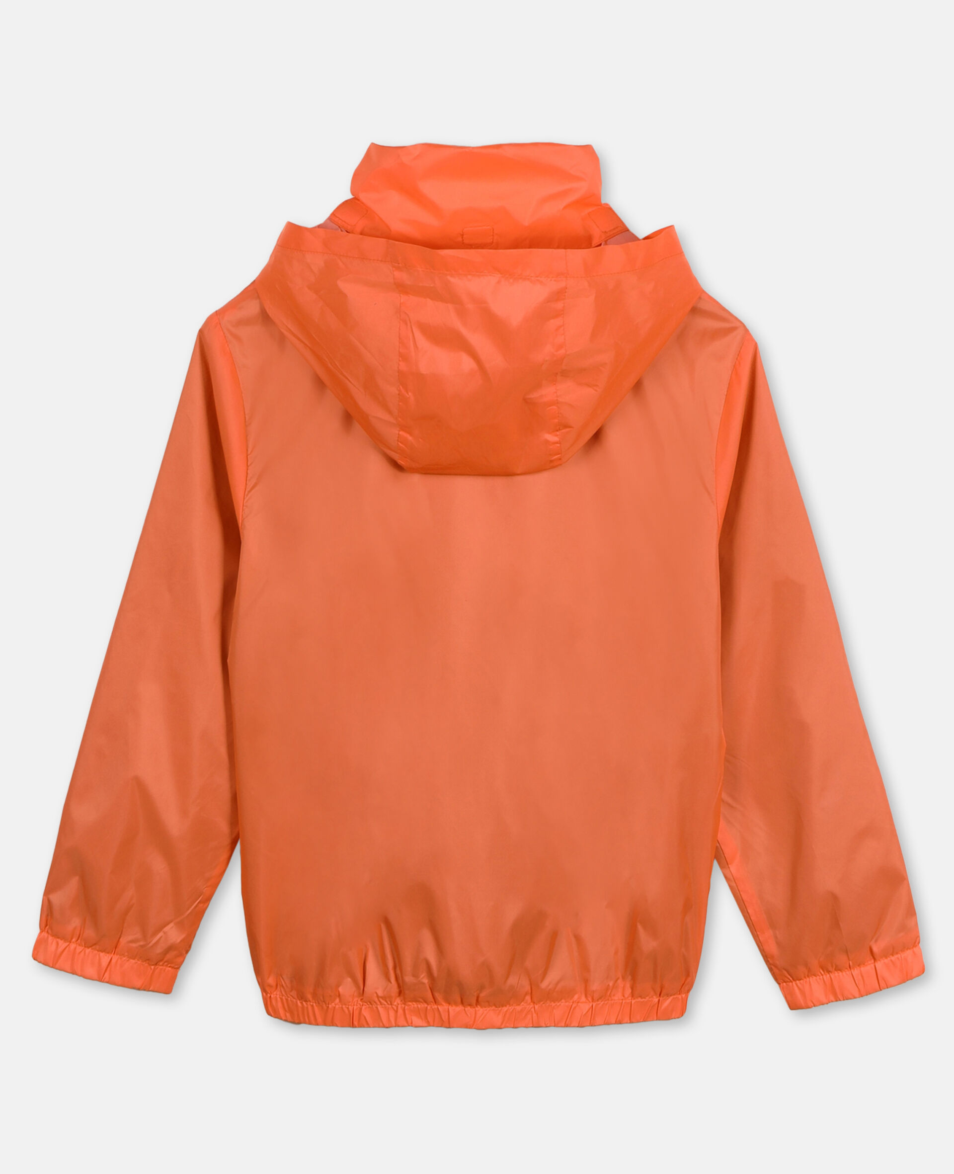 Logo Nylon Active Jacket -Orange-large image number 3