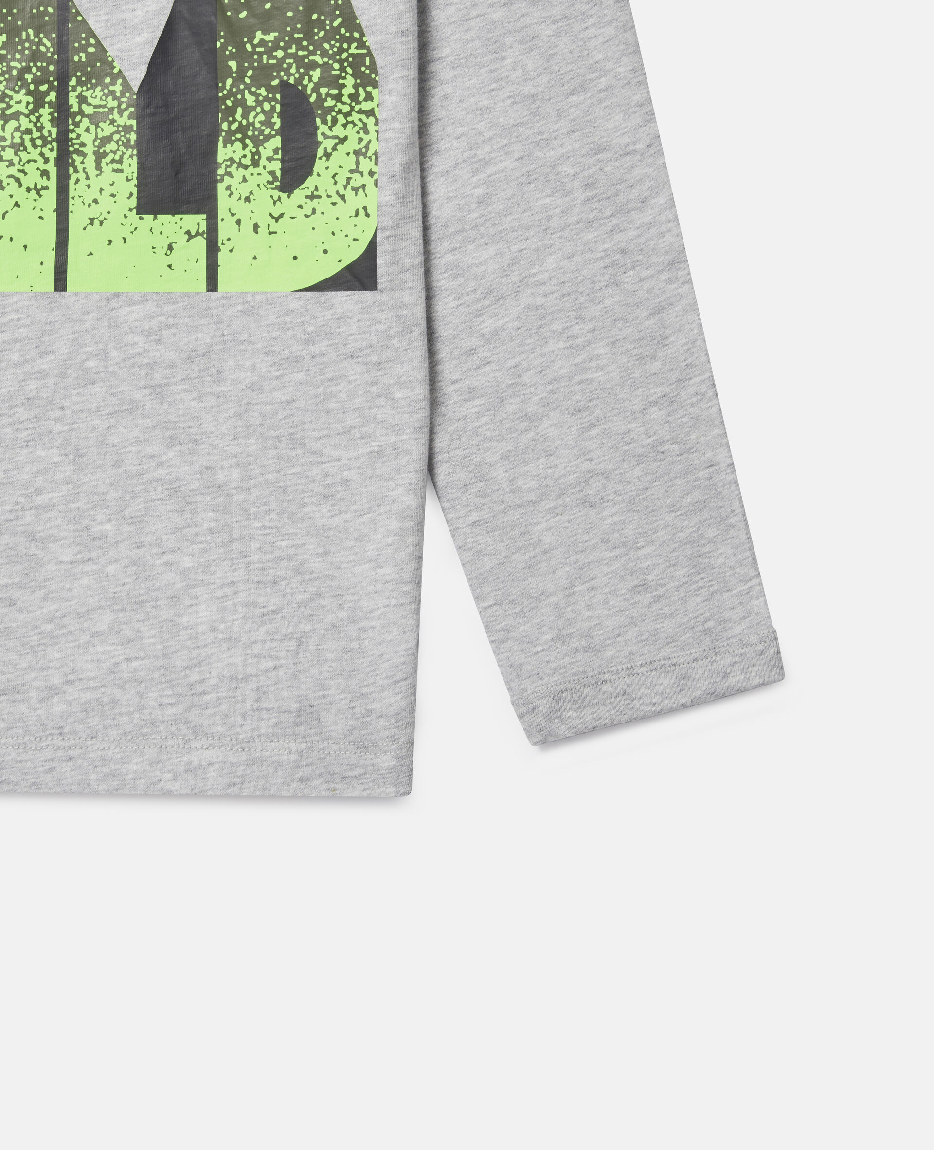 Oversized 'Stay Wild' Top-Grey-large image number 2