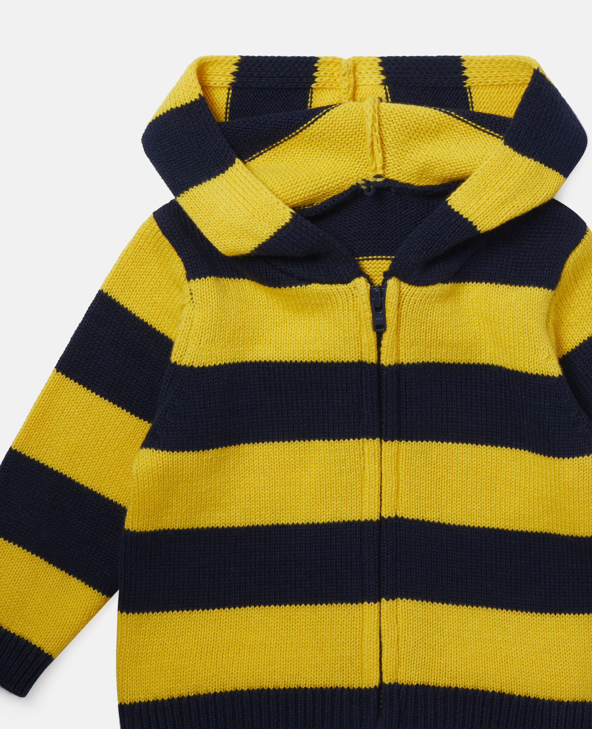 'Eat My Dust' Striped Knit Cardigan-Multicolour-large image number 0