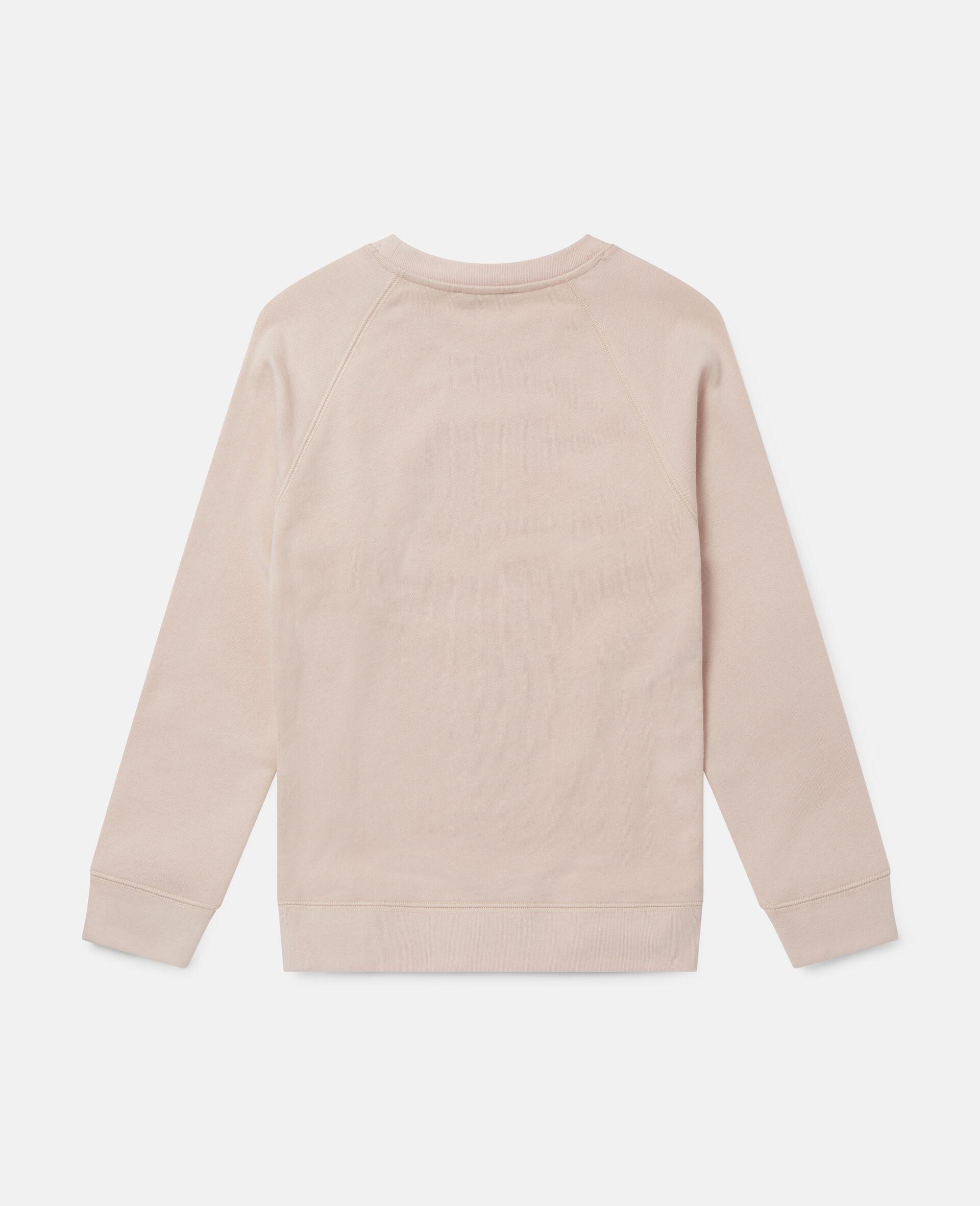 Skating Poodle Fleece Sweatshirt-Pink-large image number 3