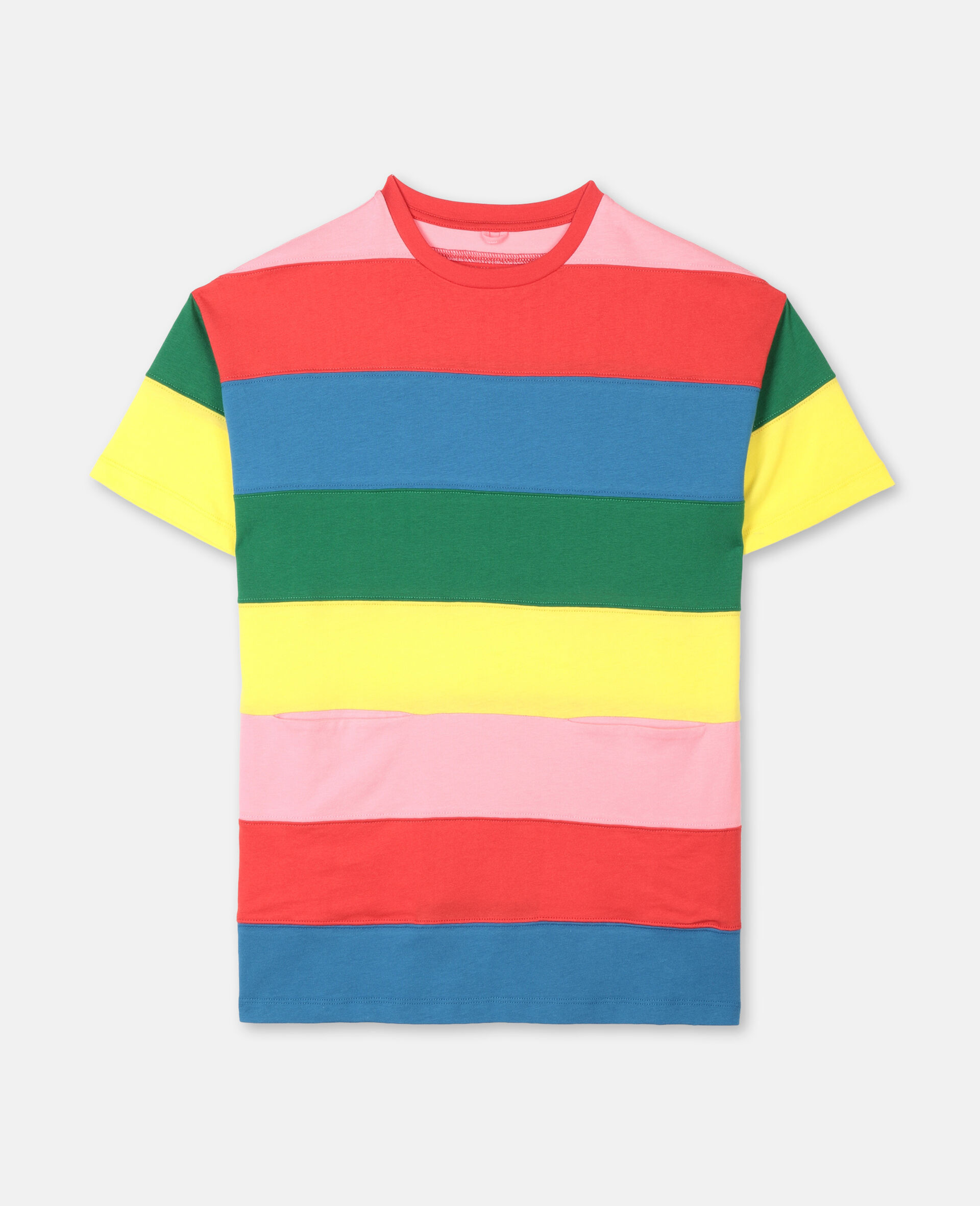 Striped Cotton Dress -Multicoloured-large image number 0