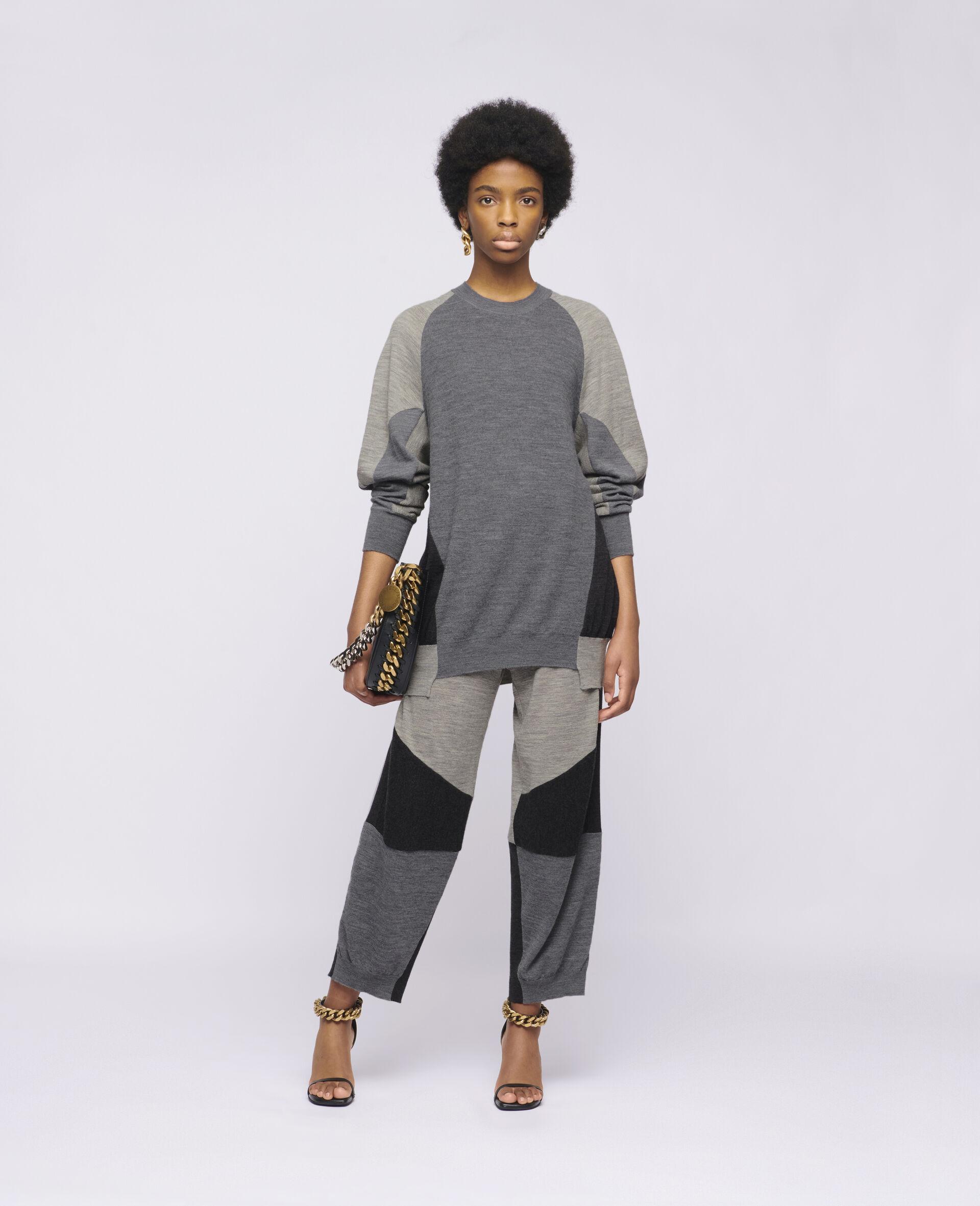 针织裤装-灰色-large image number 1