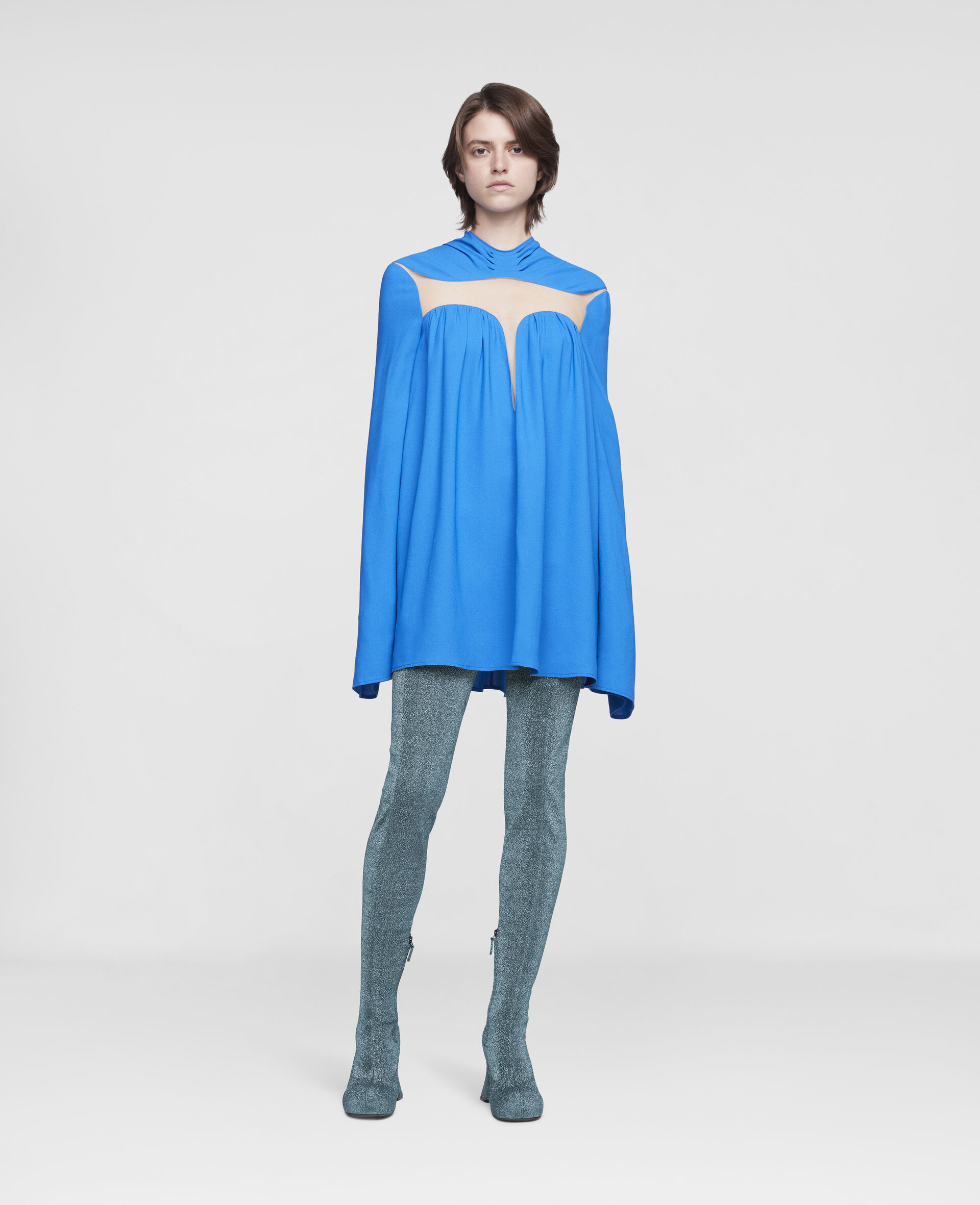 Cordelia Mini Dress-Blue-large image number 1