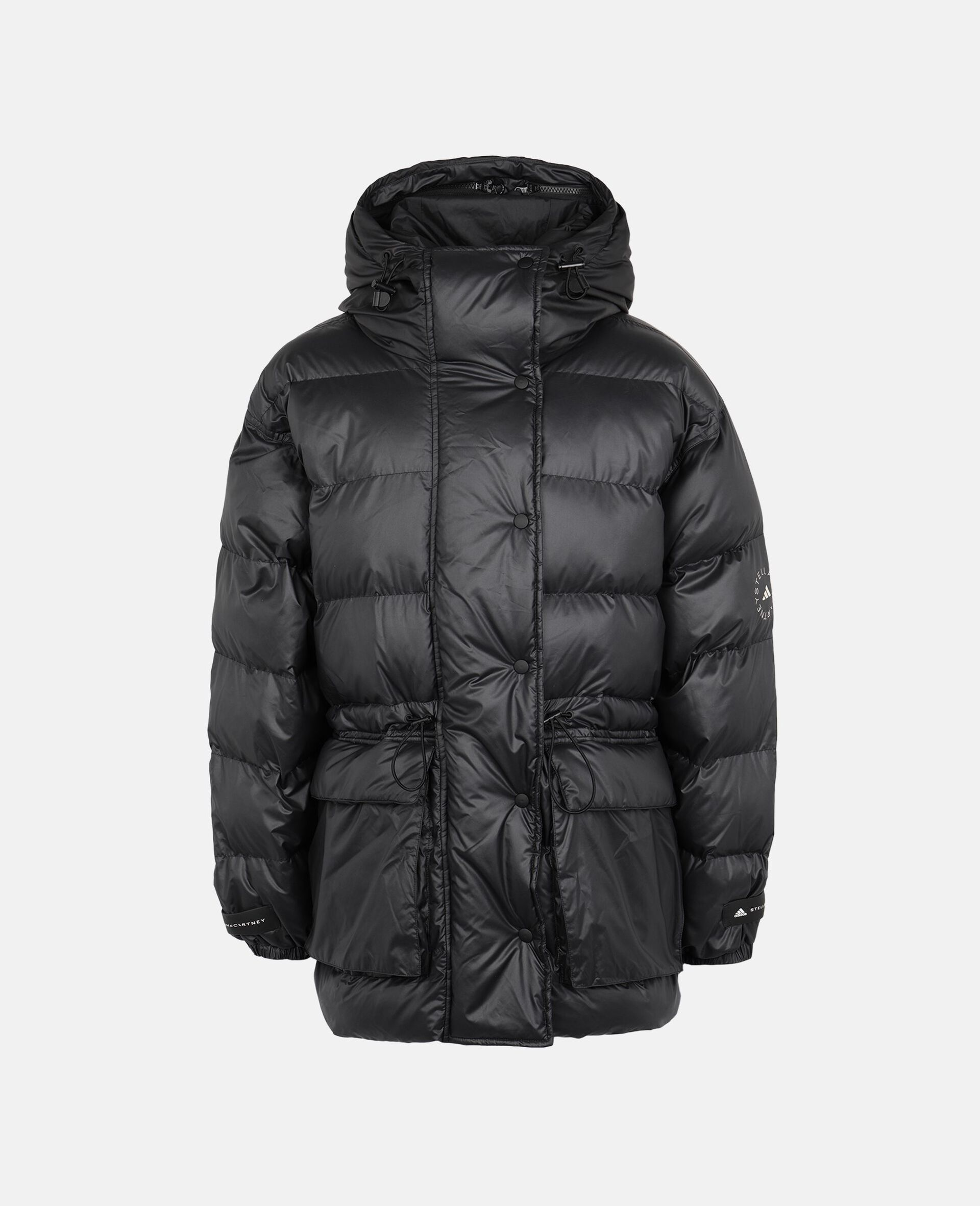 2-in-1 Mid-Length Padded Jacket-Black-large image number 0