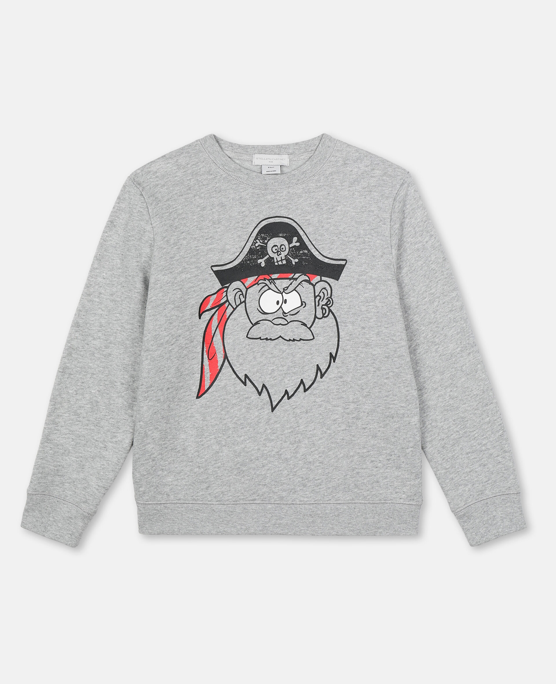 Pirate Cotton Sweatshirt -Grey-large image number 0
