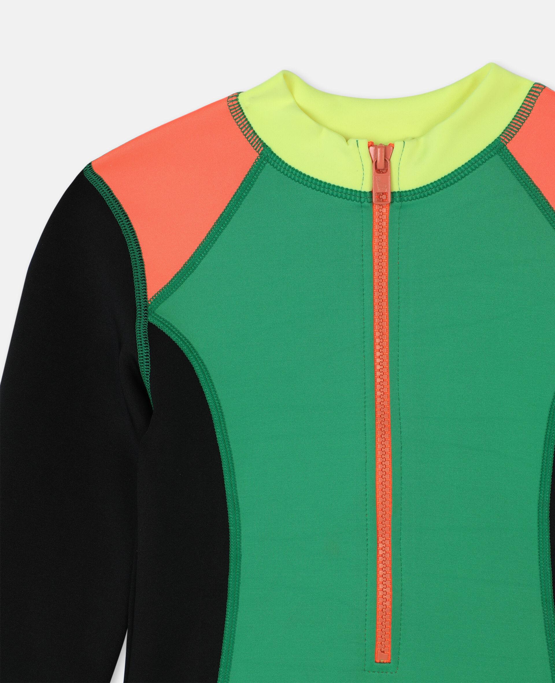 Multicolour Scuba Swimsuit-Multicolour-large image number 1