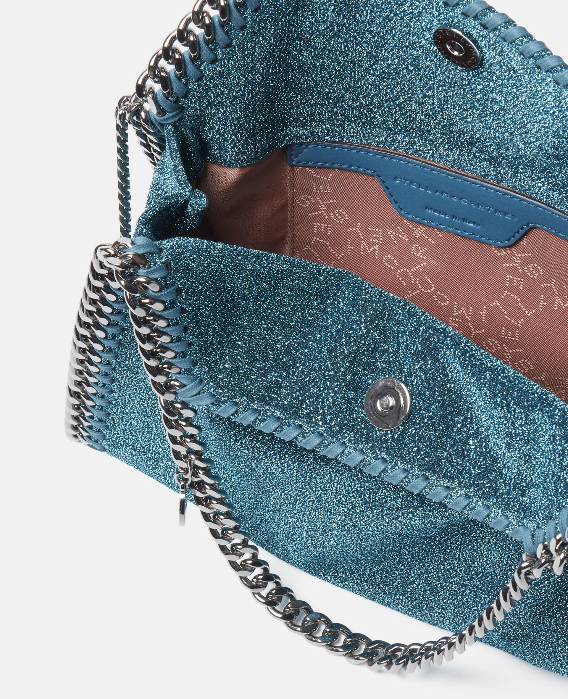 Falabella Mini Tote Bag aus glitzerndem Lurex-Blau-large image number 3