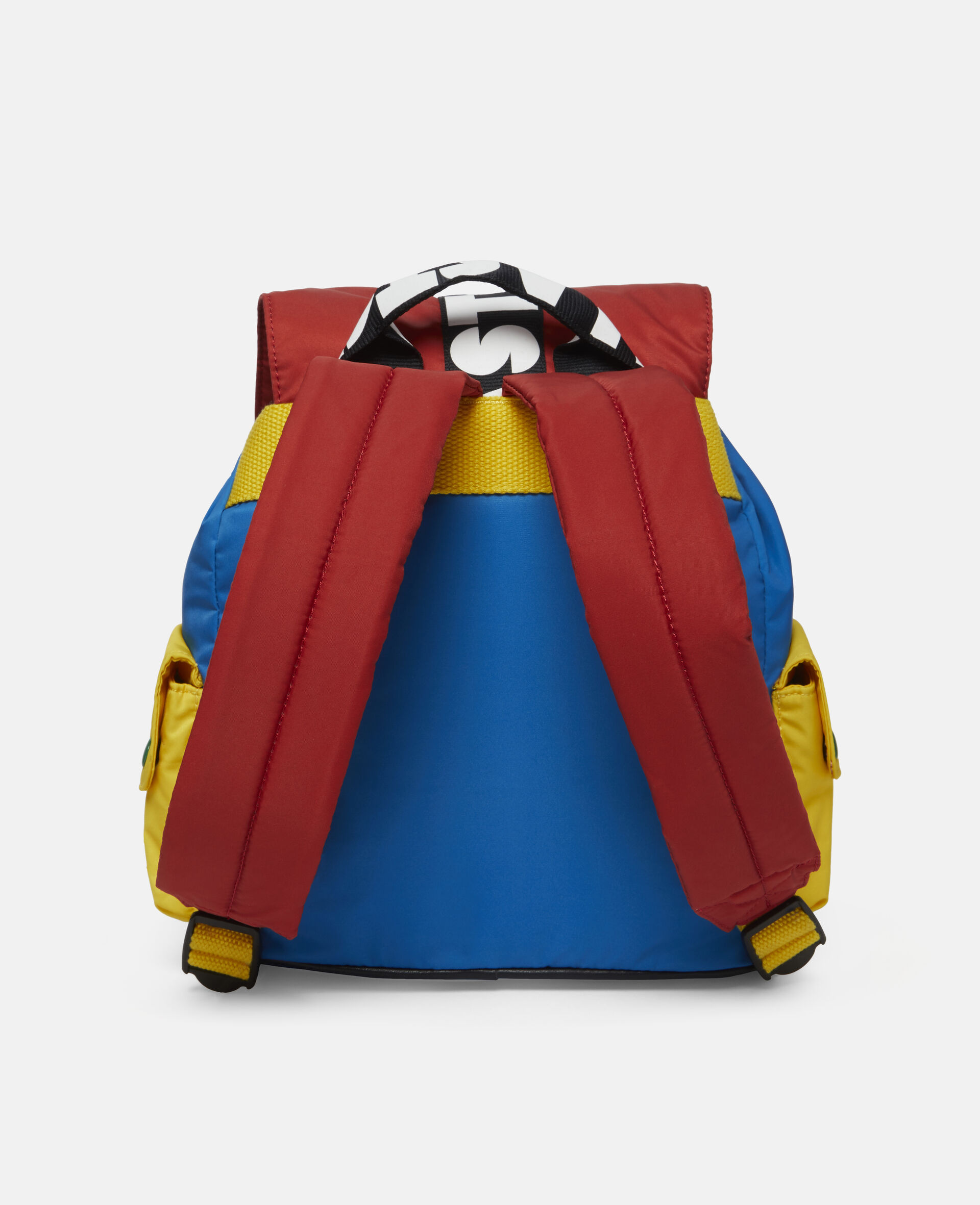 Colourblock Logo Small Backpack -Multicolour-large image number 3