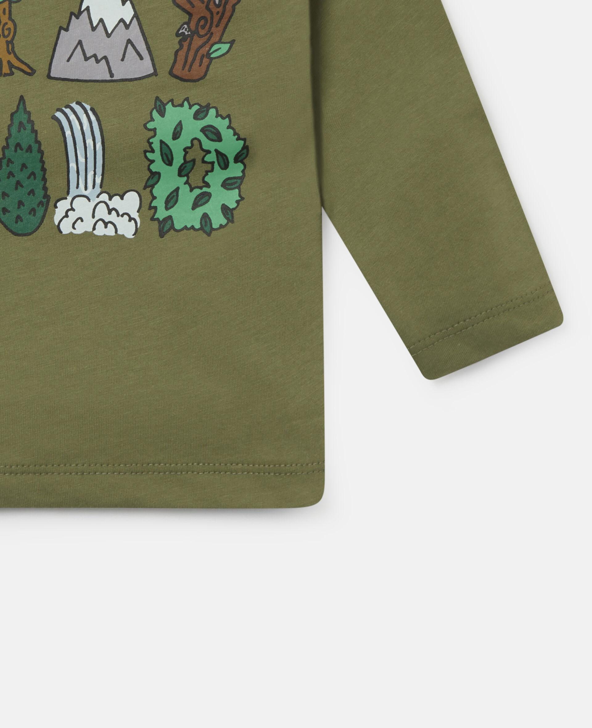 Haut en coton «Stay Wild»-Vert-large image number 2