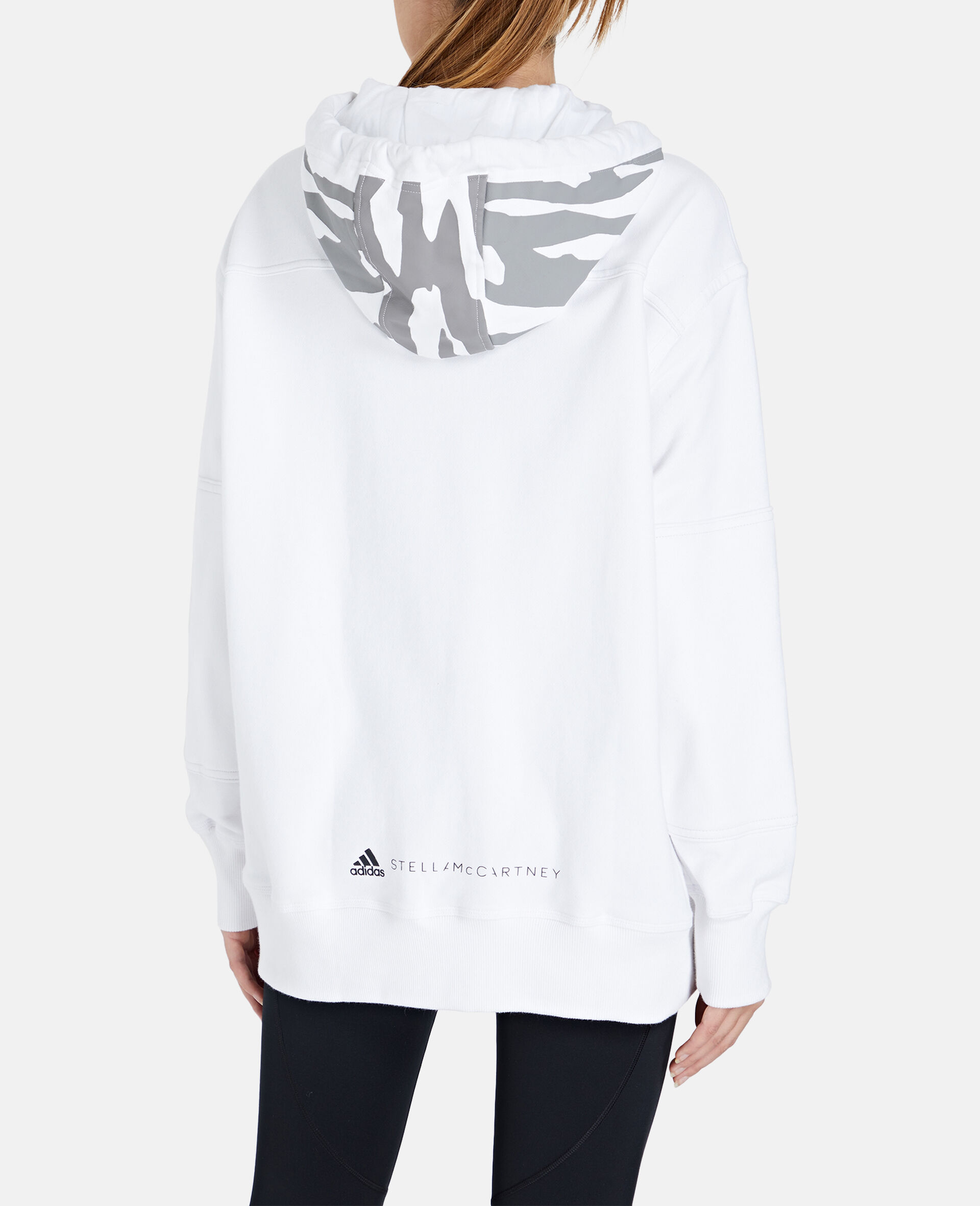 White Full-zipper Hoodie-White-large image number 2