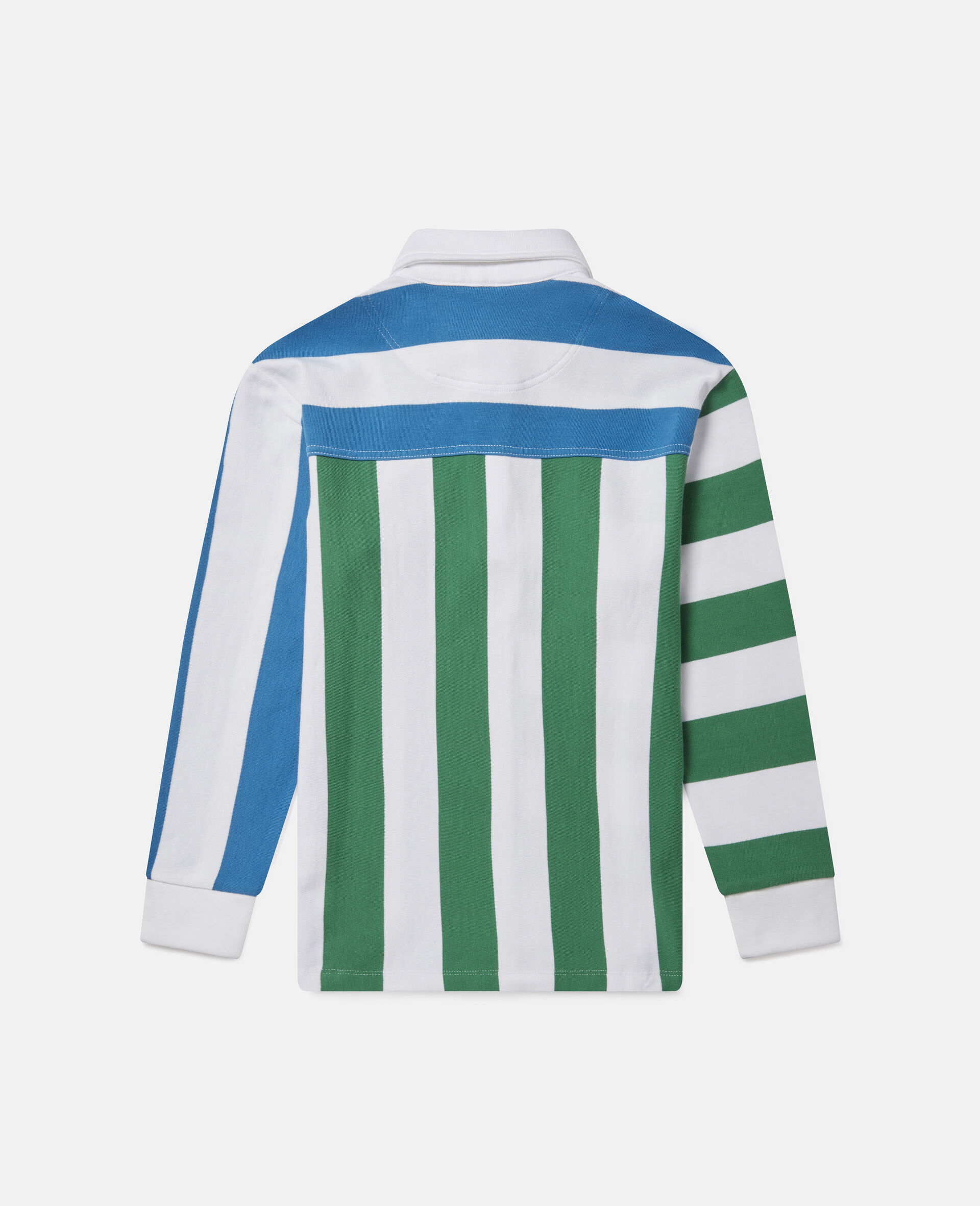 Colourblock Striped Oversized Shirt-Multicolour-large image number 2
