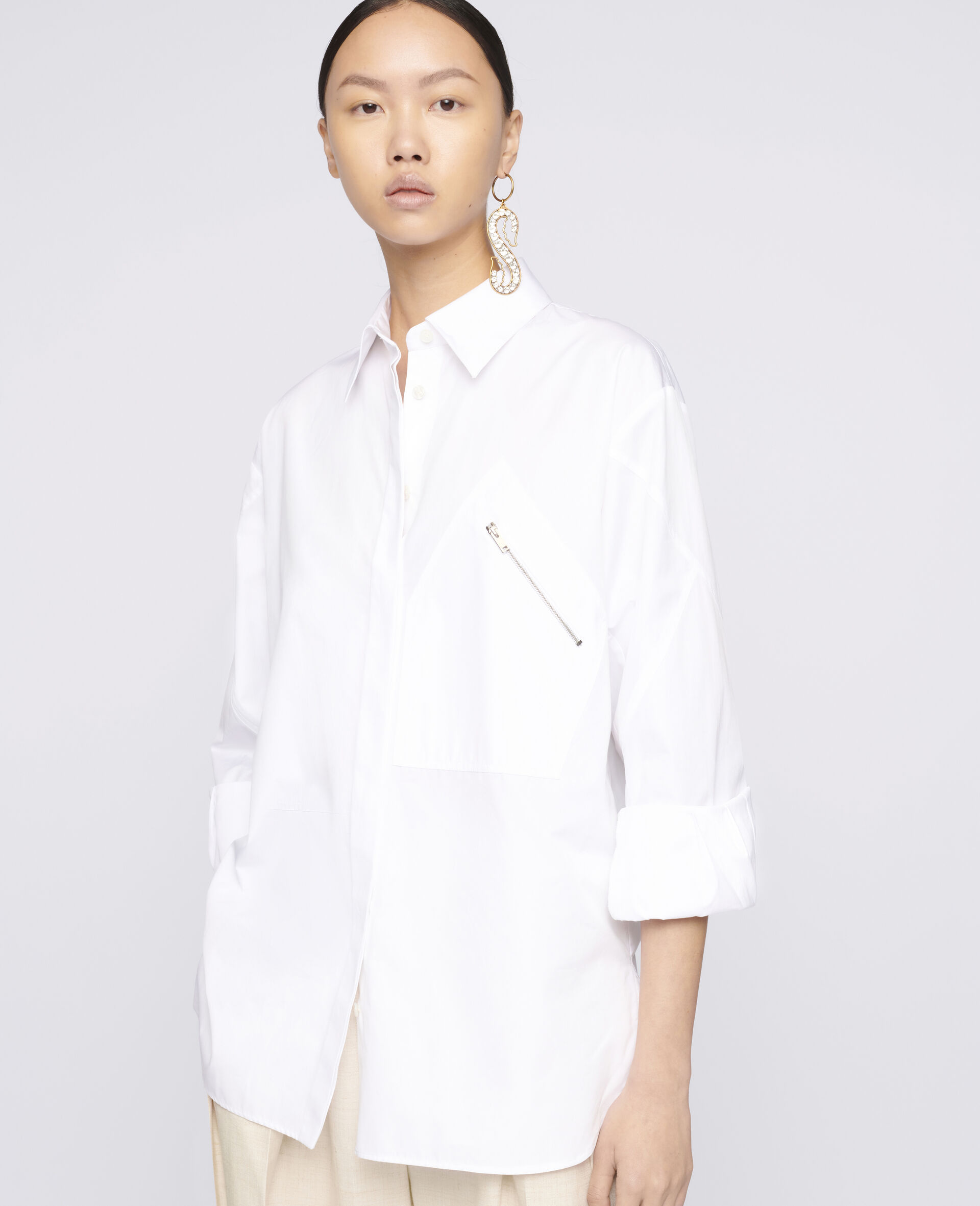 Clara Cotton Shirt-White-large image number 3