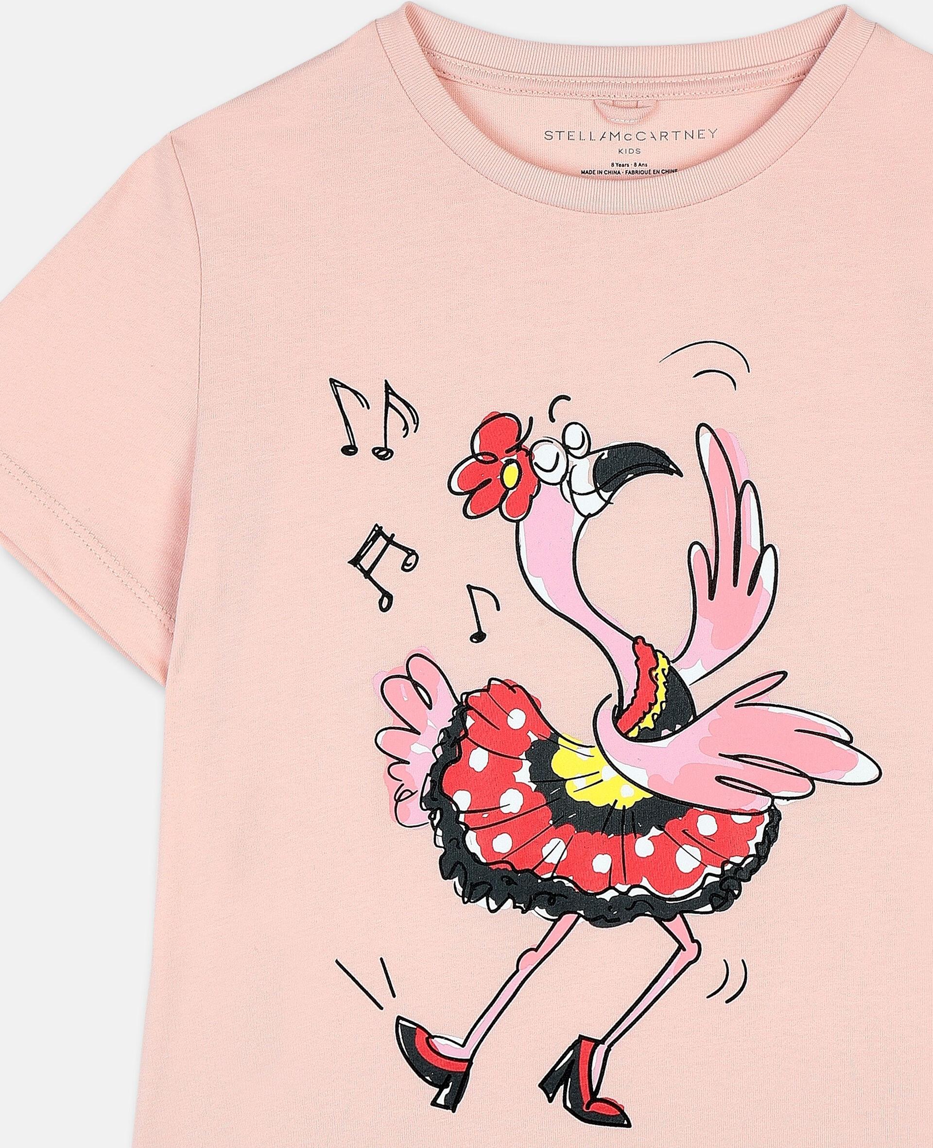 Dancing Flamingo棉质T恤-粉色-large image number 1