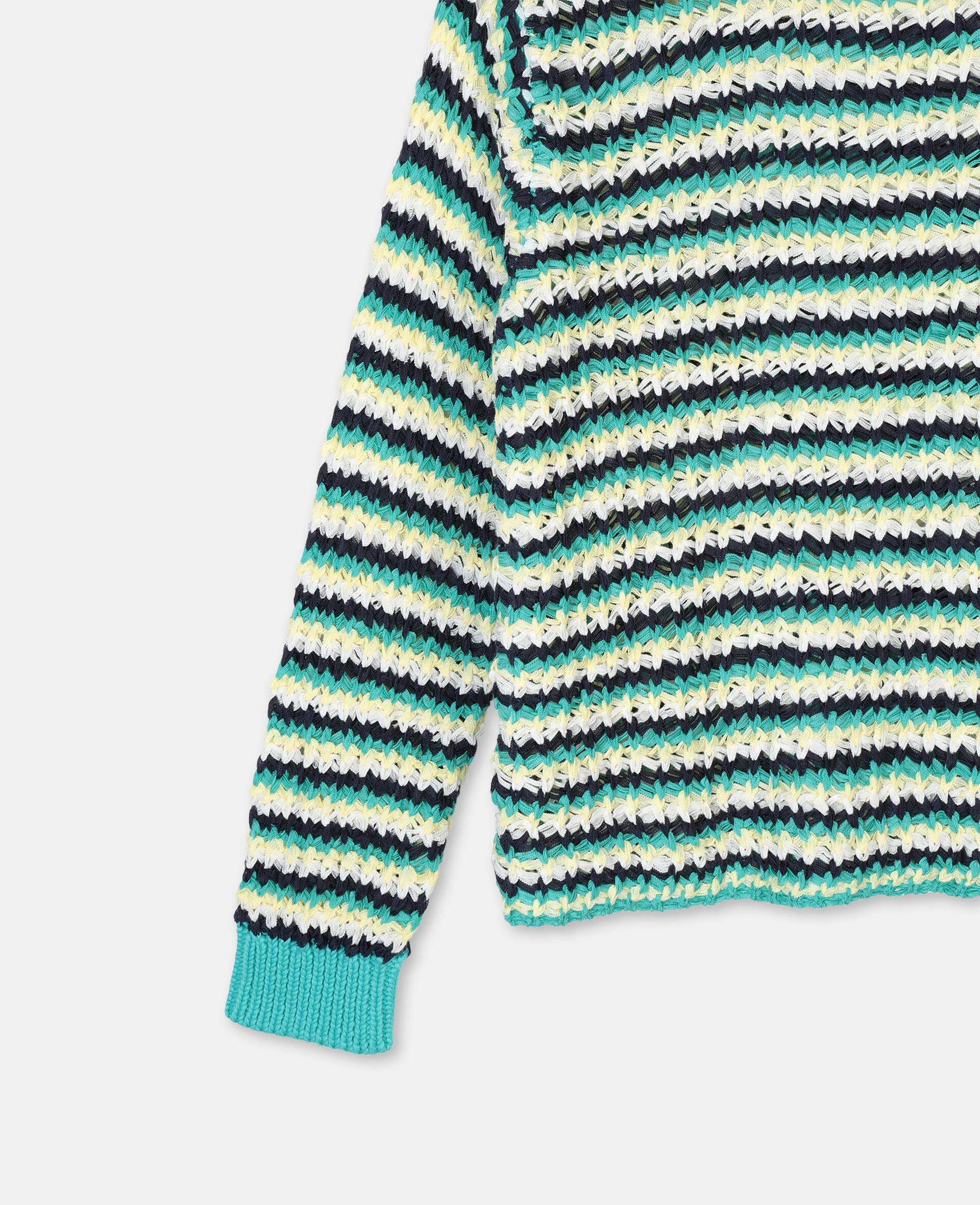 Zigzag Oversize Knit Jumper -Multicolour-large image number 1