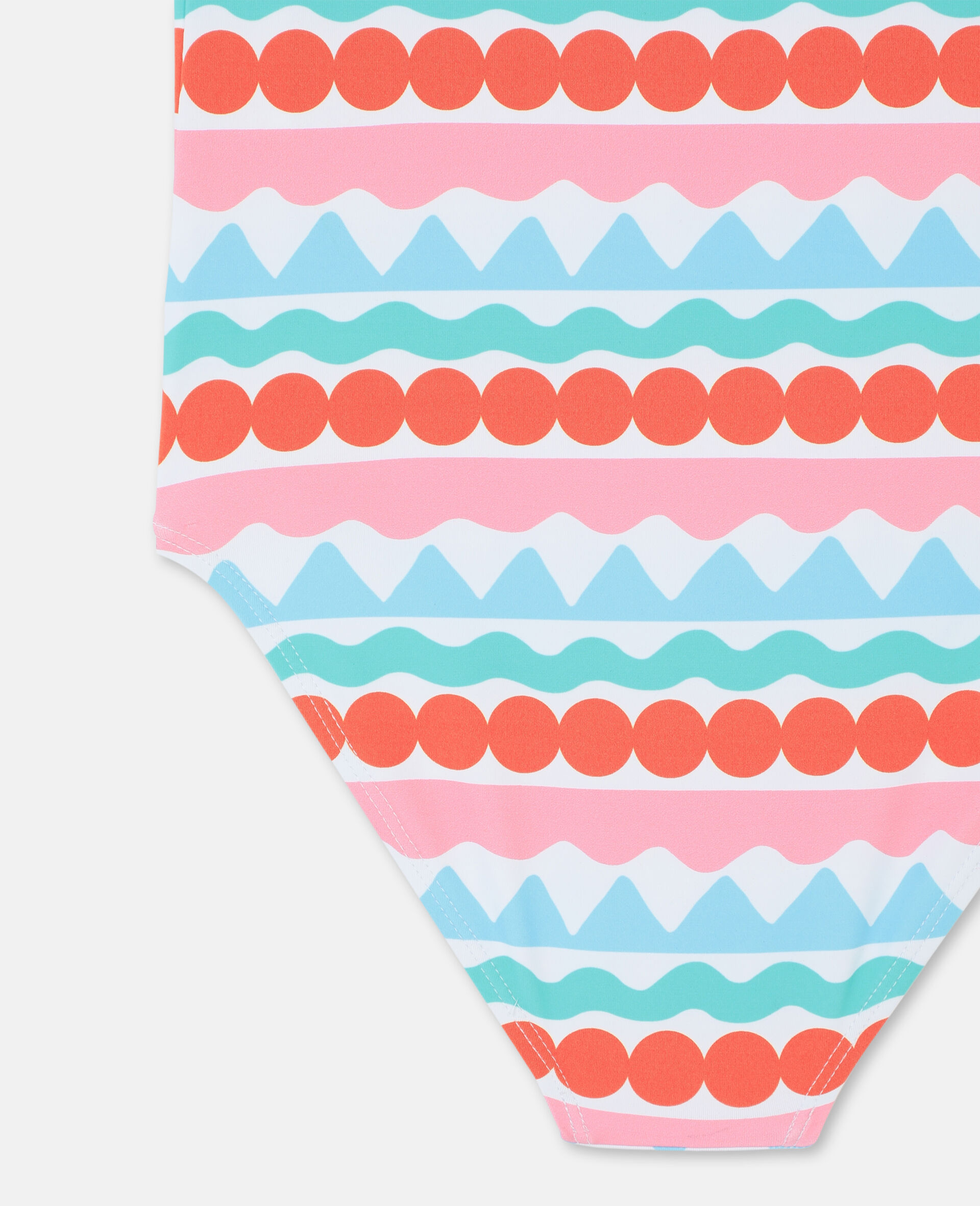 Graphic Stripes Swimsuit-Multicoloured-large image number 2