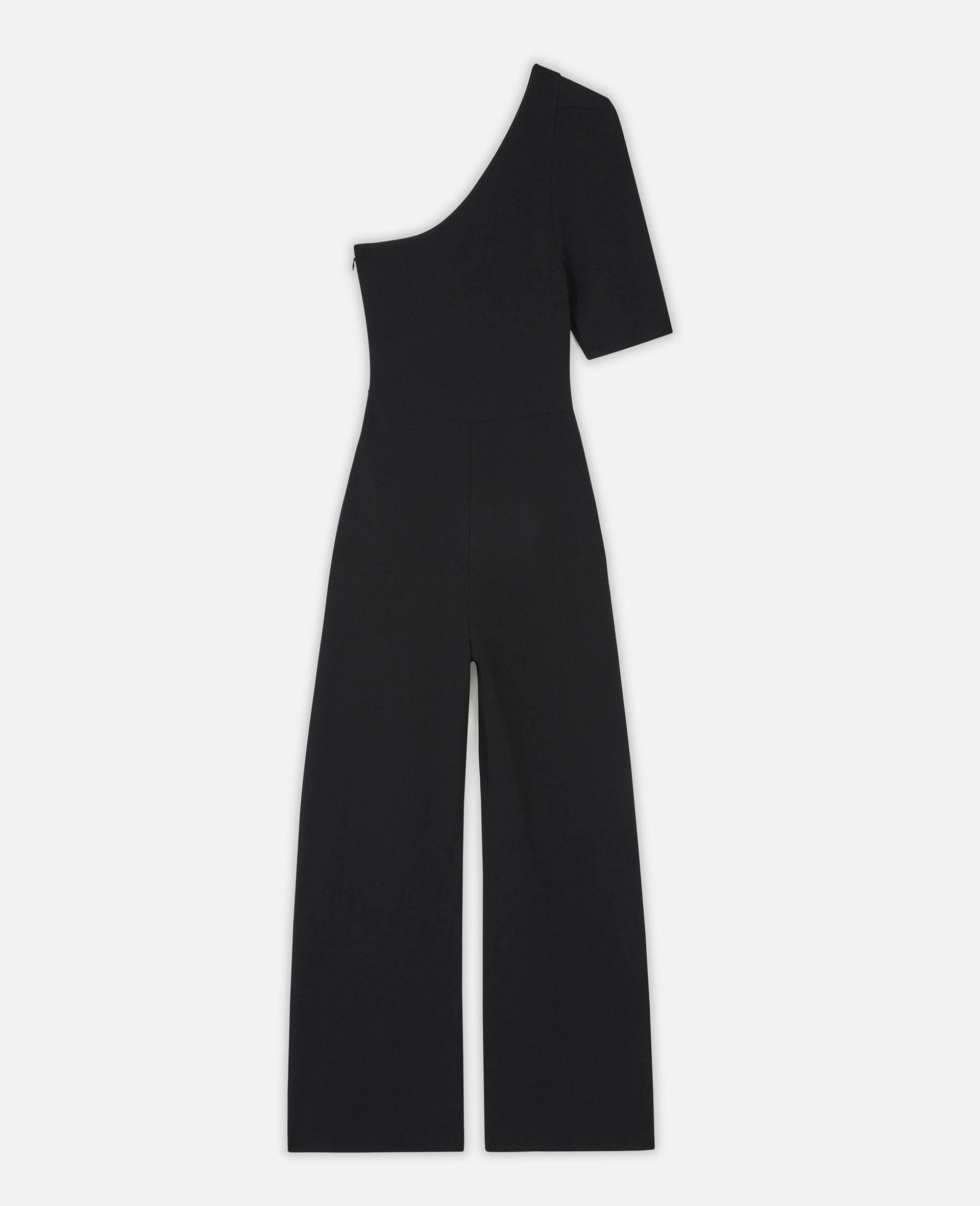 Compact Knit Jumpsuit-Black-large image number 0