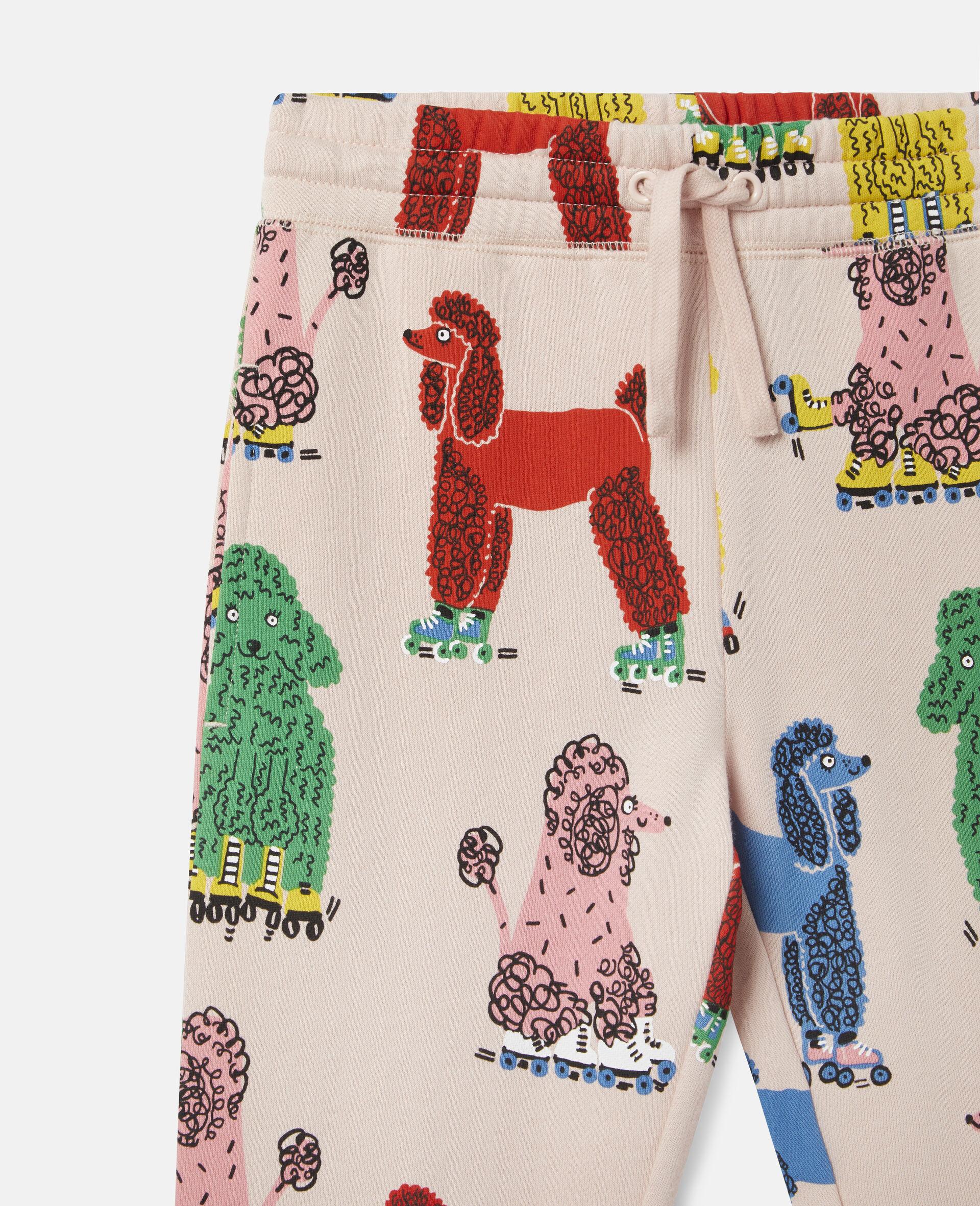 Doodle Poodles Fleece Joggers -Pink-large image number 1