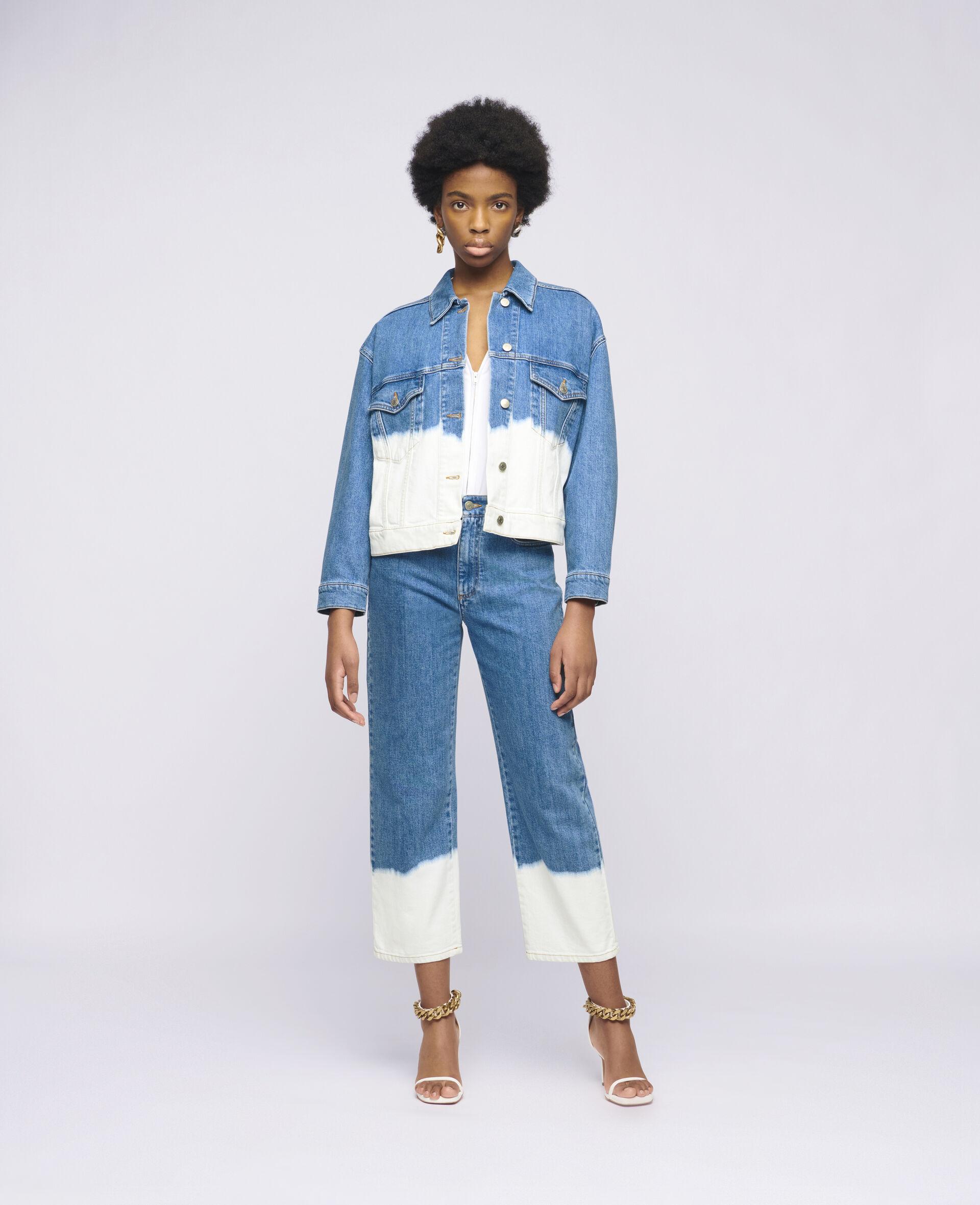 Dip Faded Denim Jacket -Blue-large image number 1