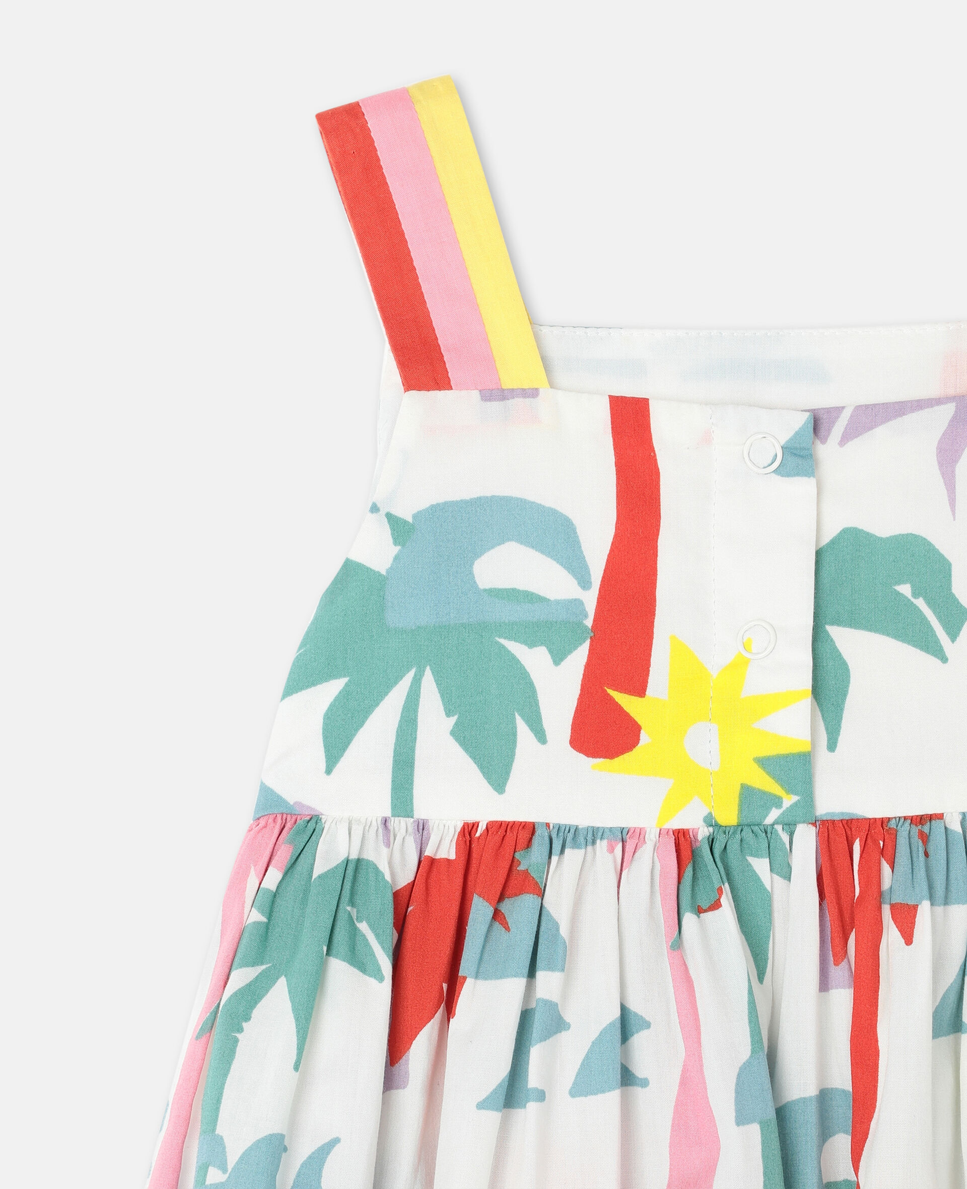 Kleid aus Baumwolle mit Palmen-Print-Bunt-large image number 2