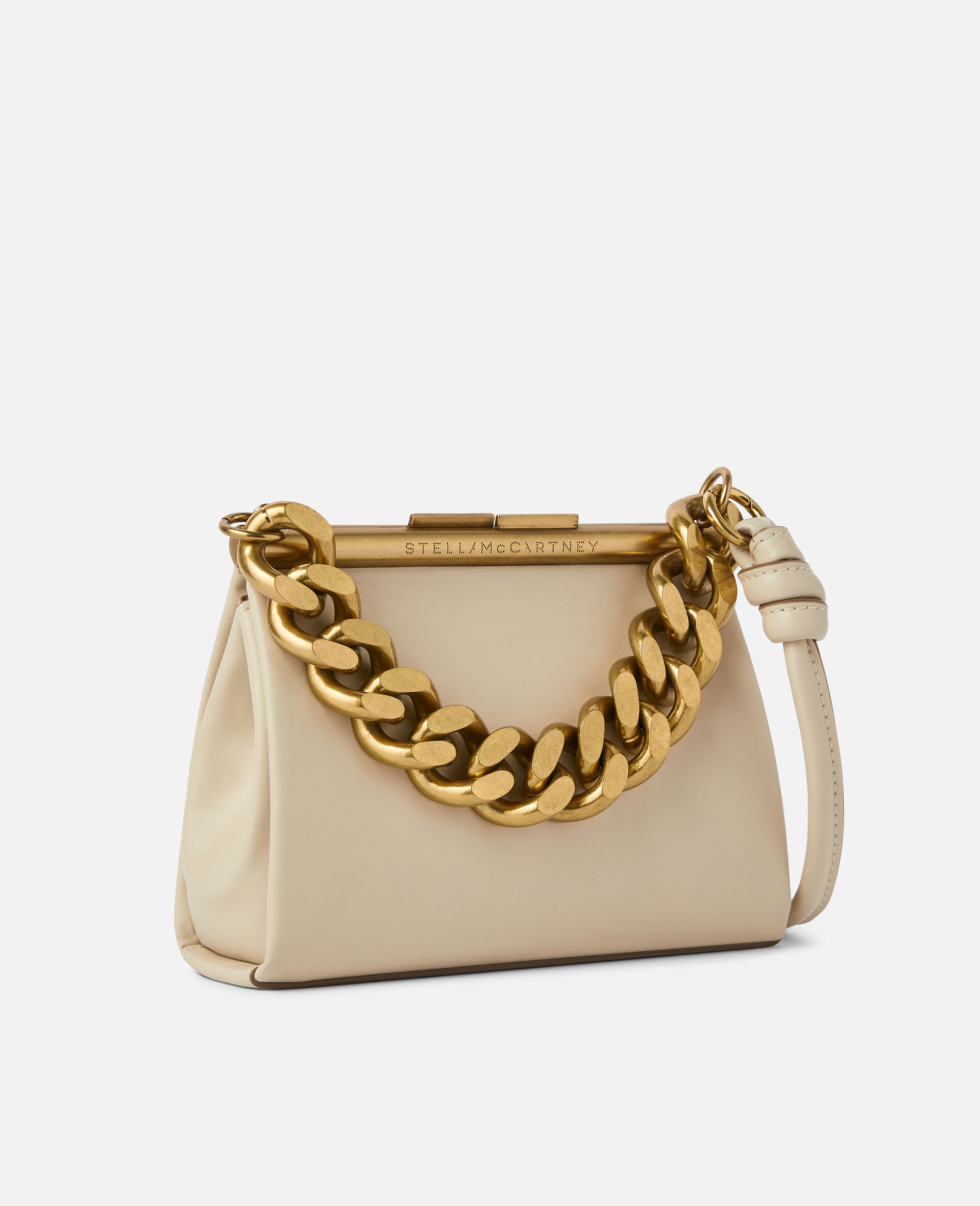 Small Chunky Chain Bag-White-large image number 1