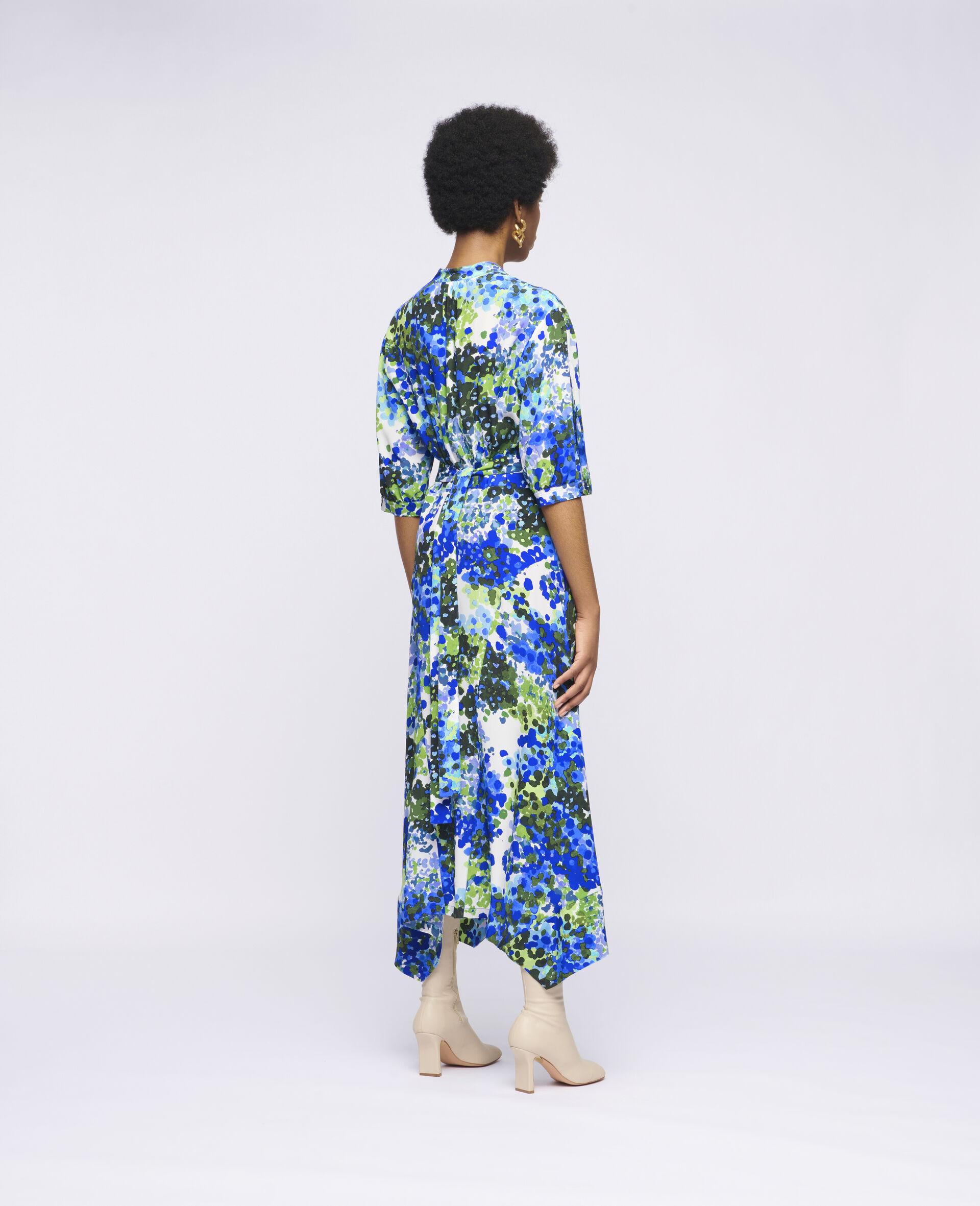 Olivia Silk Dress-Multicolour-large image number 2