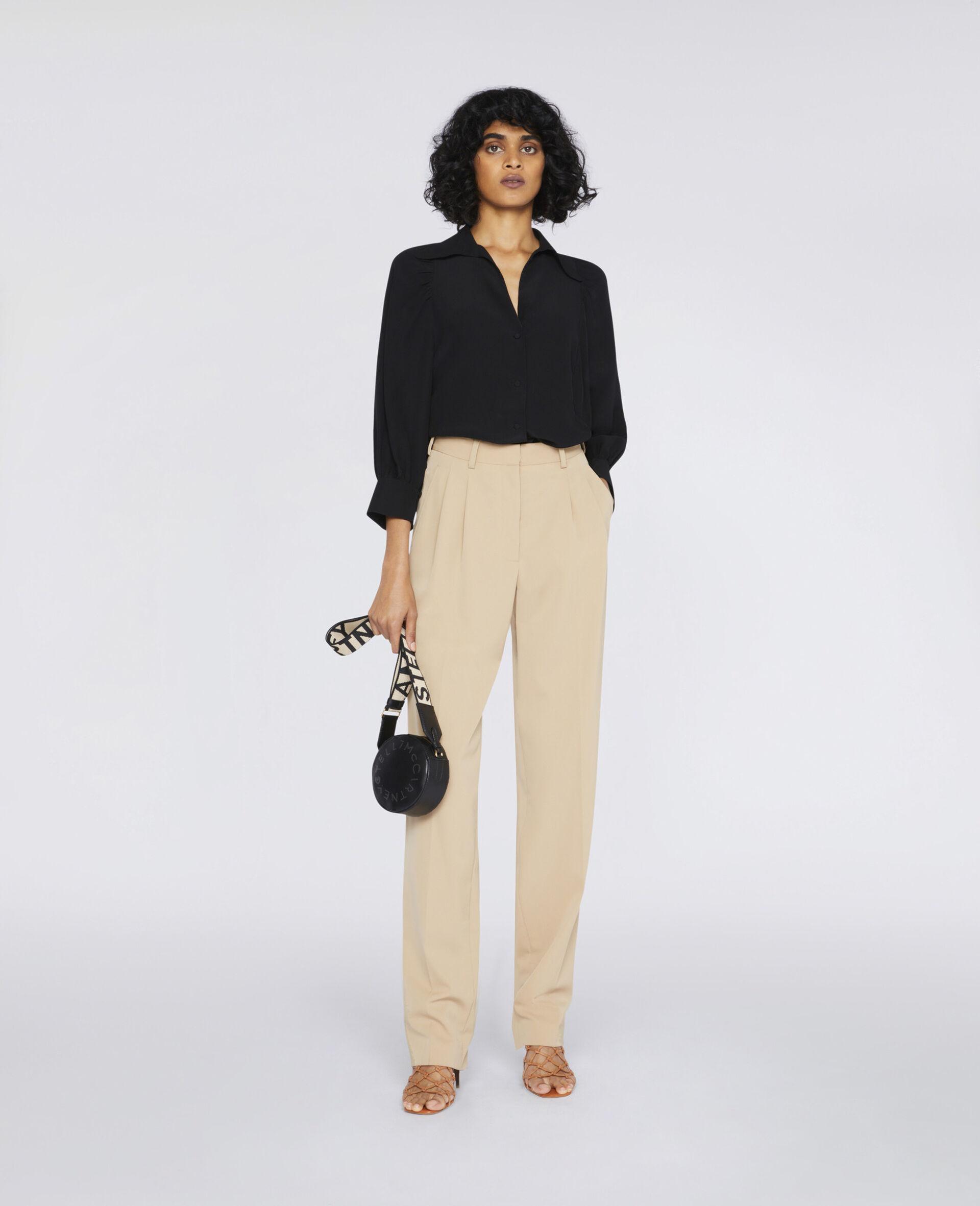 Reese Silk Shirt -Black-large image number 1