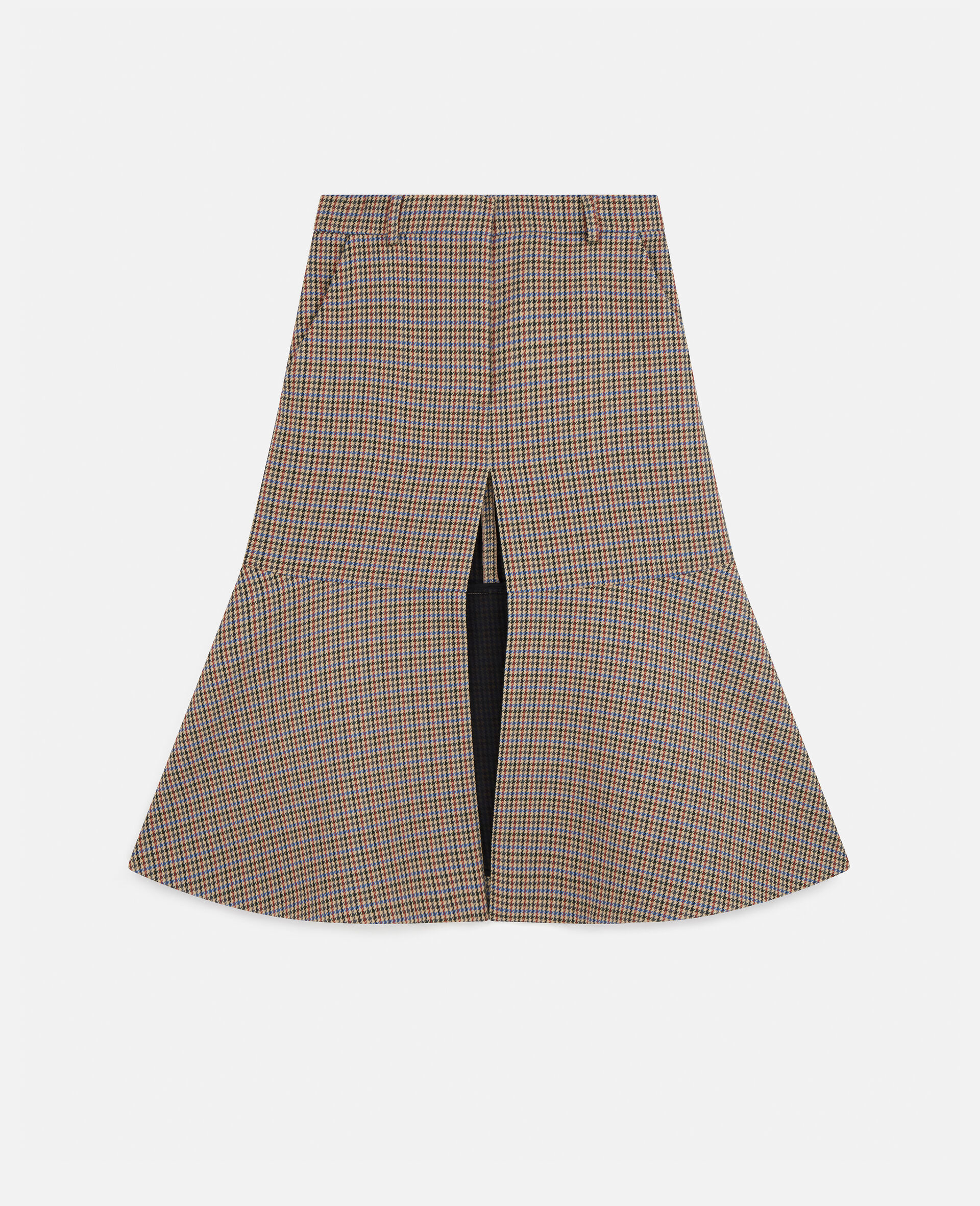 Naomi Wool Skirt-Beige-large image number 0