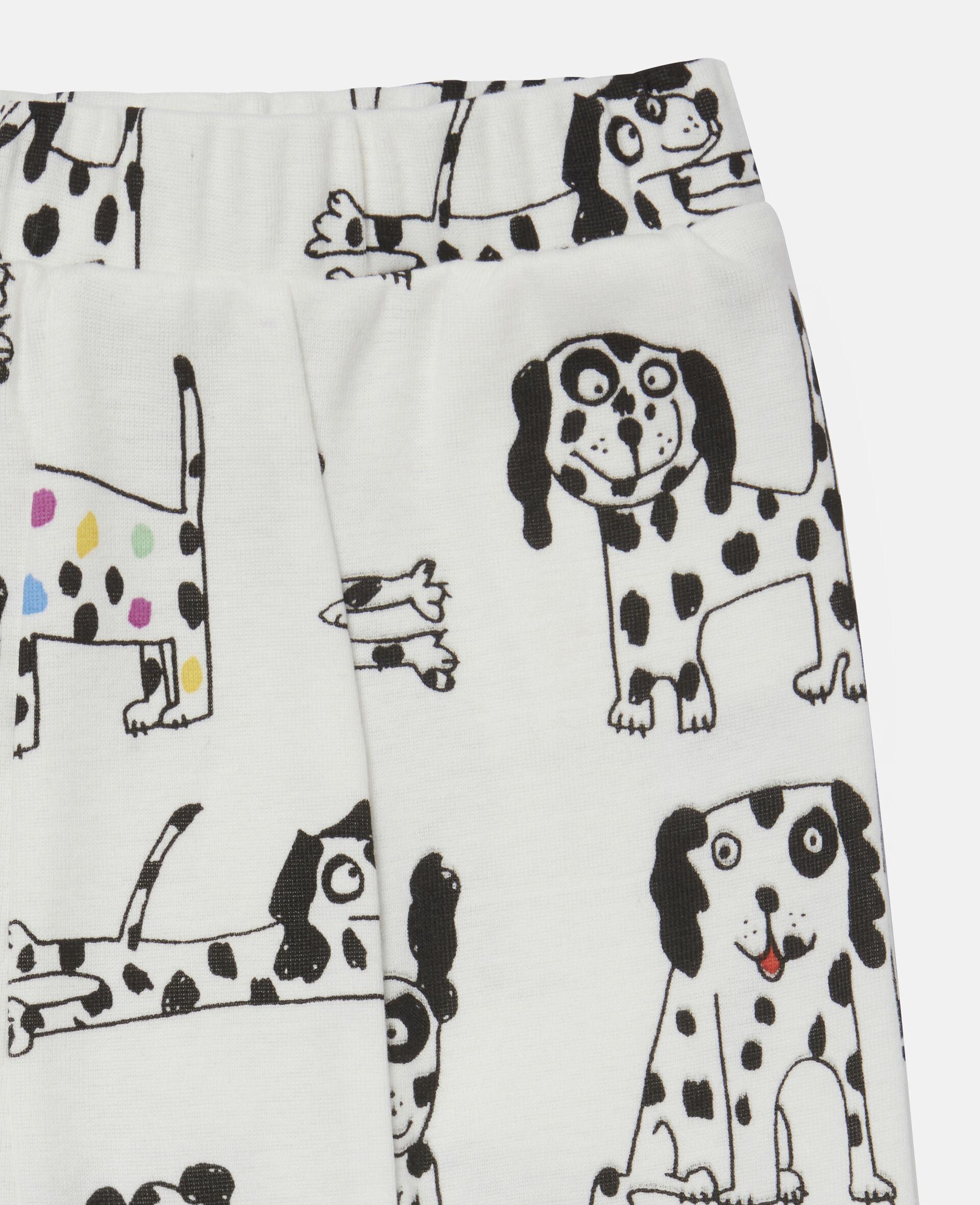 "Doodle Leggings aus geripptem Jersey mit ""Doodle Dalmatians""-Motiv-Weiß-large image number 2"