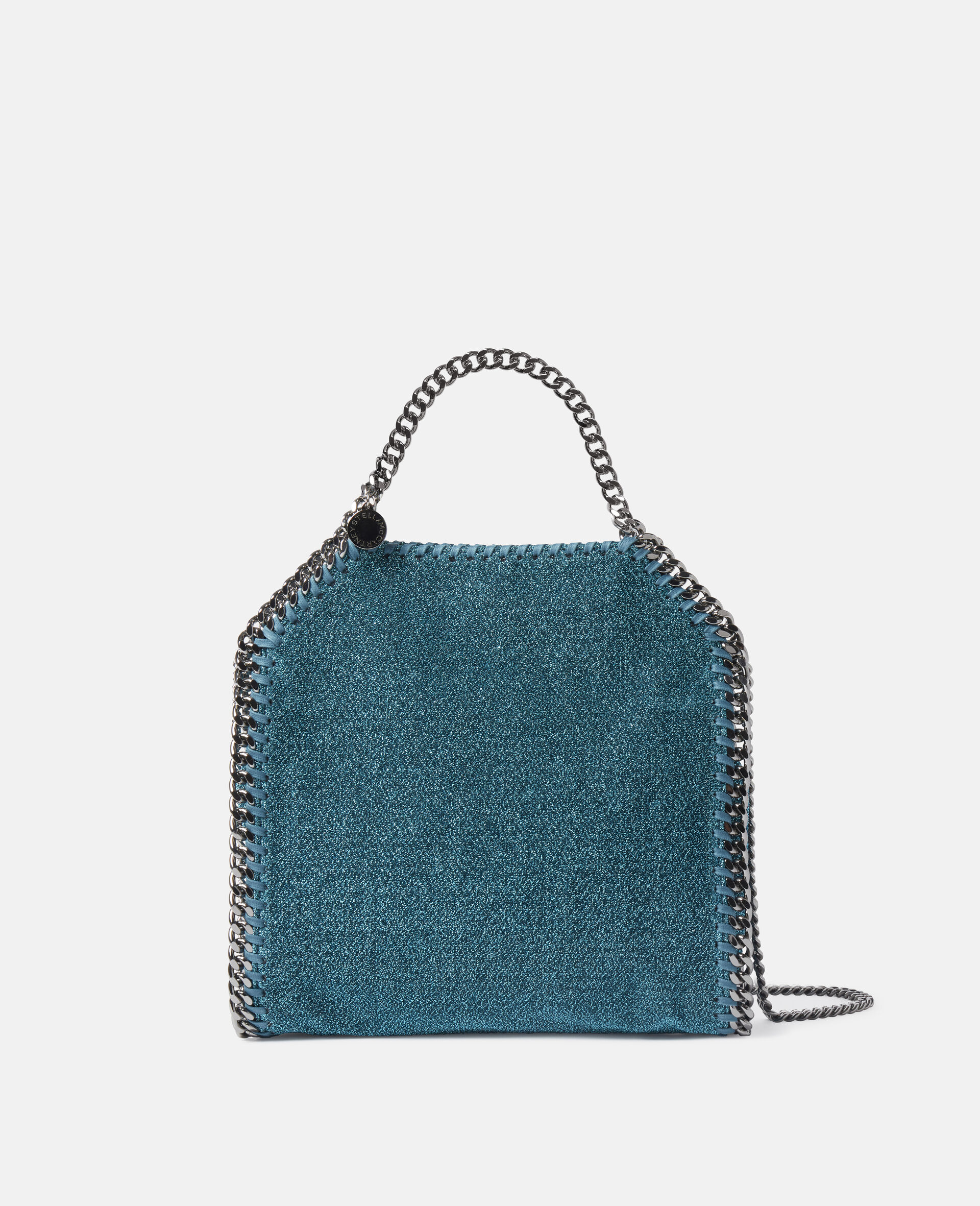 Falabella Mini Tote Bag aus glitzerndem Lurex-Blau-large image number 0