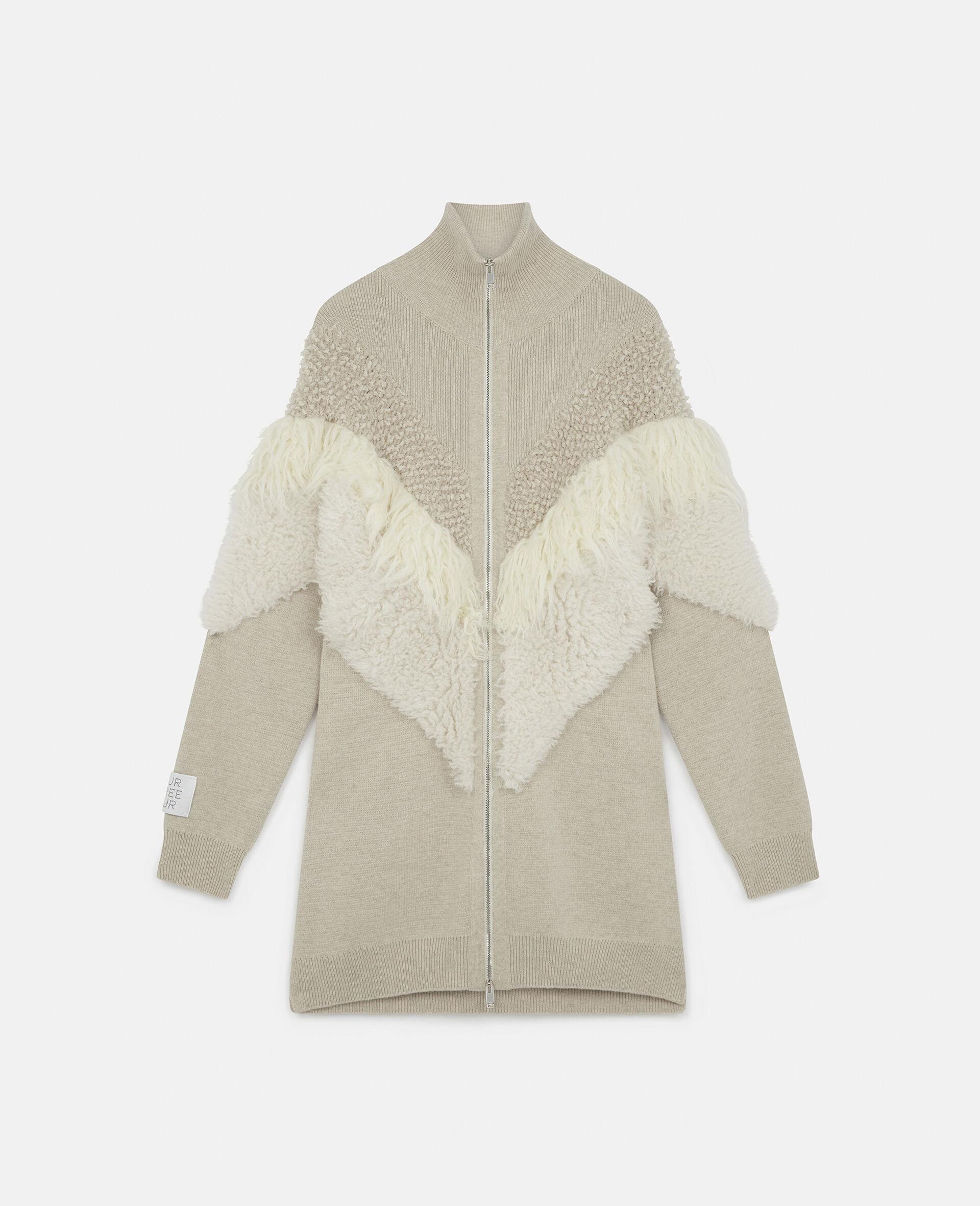 FFF Knit Jacket  -Beige-large image number 0