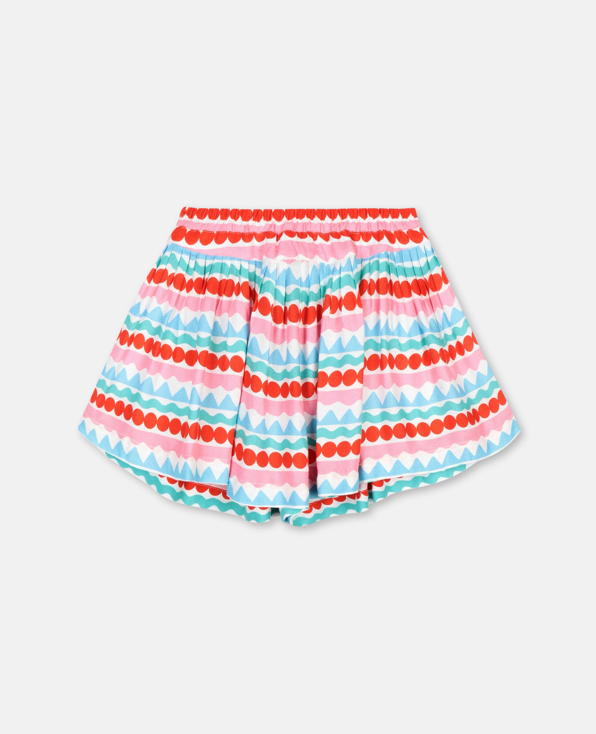 Graphic Striped Shorts-Multicolour-large image number 3