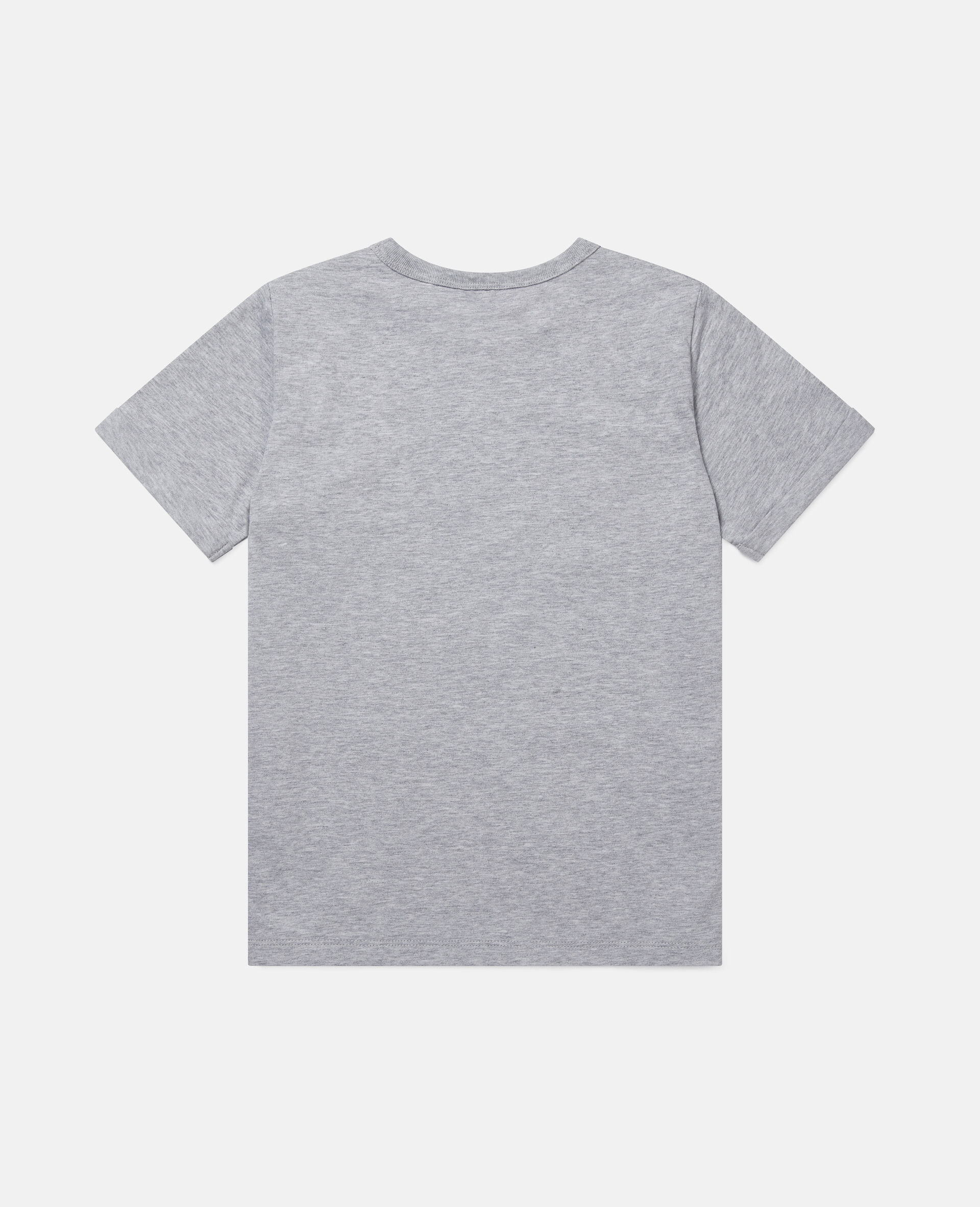 Daisy Heart Cotton T-Shirt-Grey-large image number 3