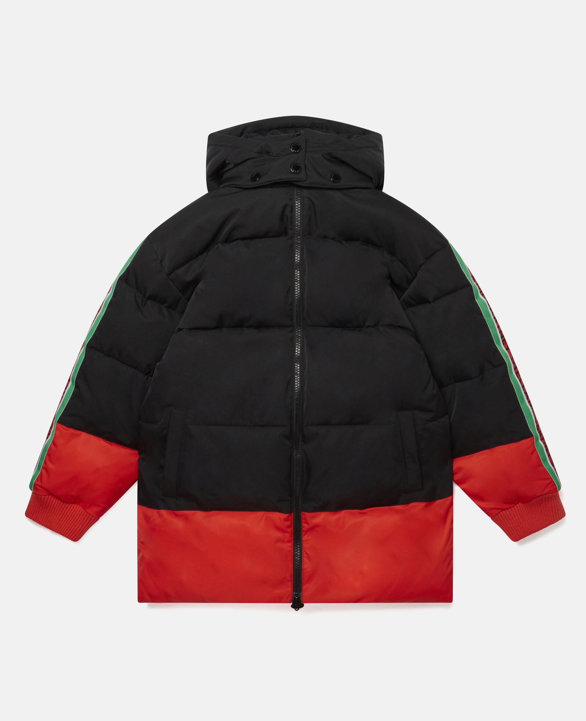 Oversized Logo Puffer Jacket-Multicolour-large image number 0
