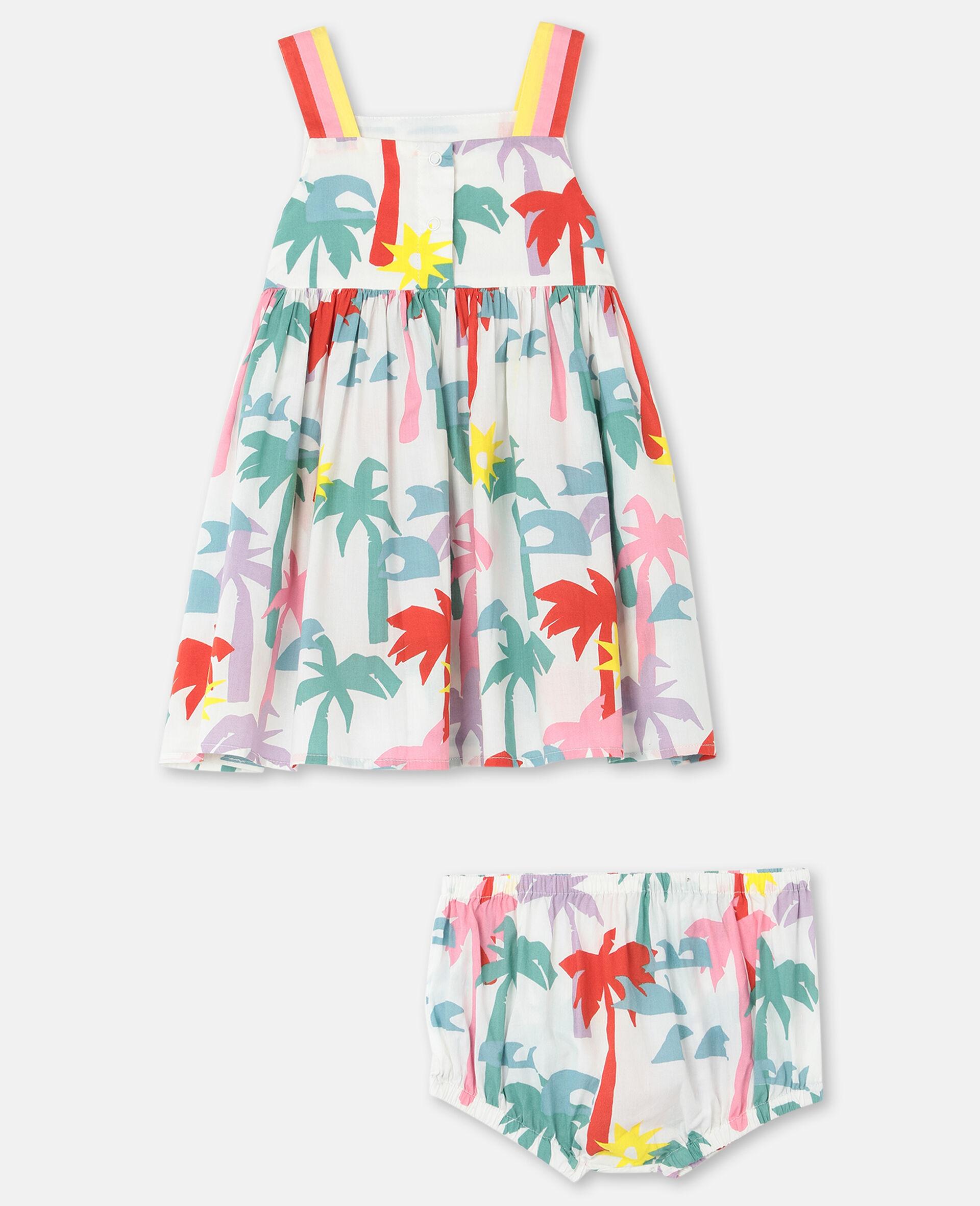 Kleid aus Baumwolle mit Palmen-Print-Bunt-large image number 3